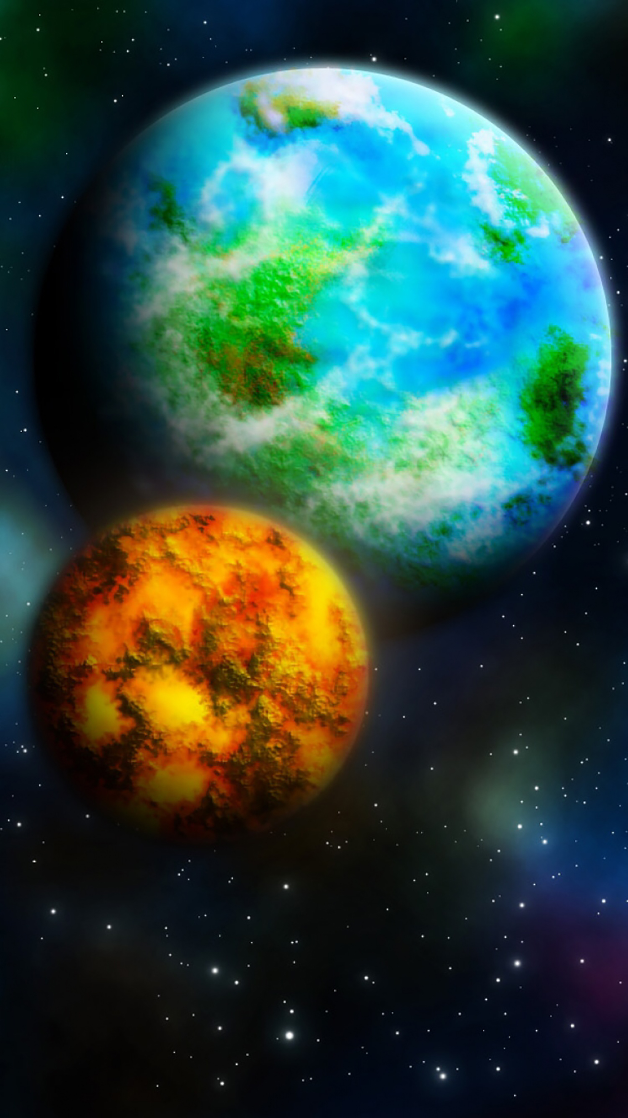 Planet 1 3Wallpapers iPhone Parallax Planet : 1