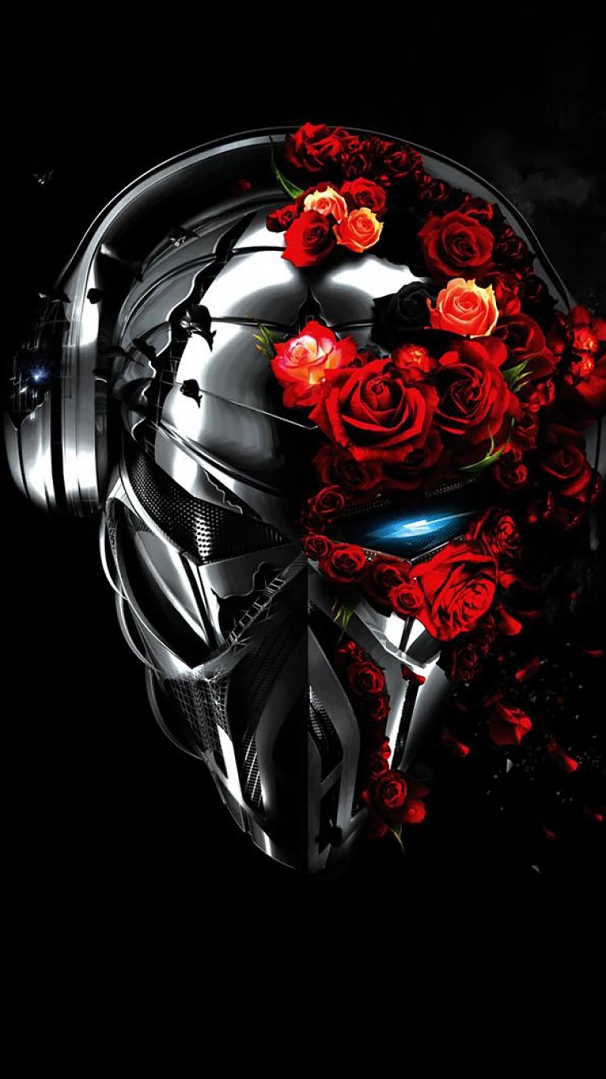 Robot Head 1 3Wallpapers iPhone Parallax Robot : Head 1