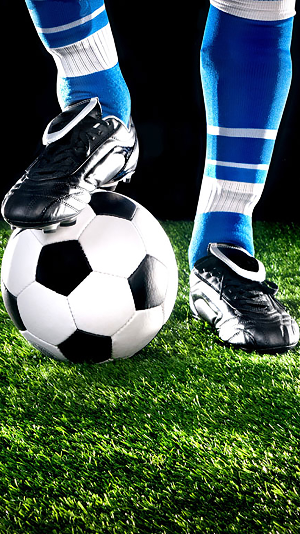 Soccer Ball Feet On Wallpaper For Iphone 11 Pro Max X
