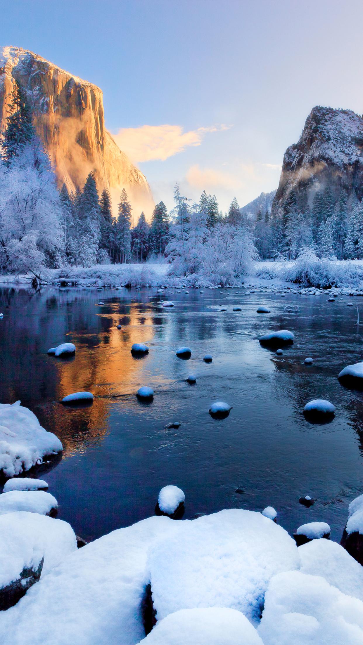 Yosemite Park 2 Wallpaper For Iphone X 8 7 6 Free