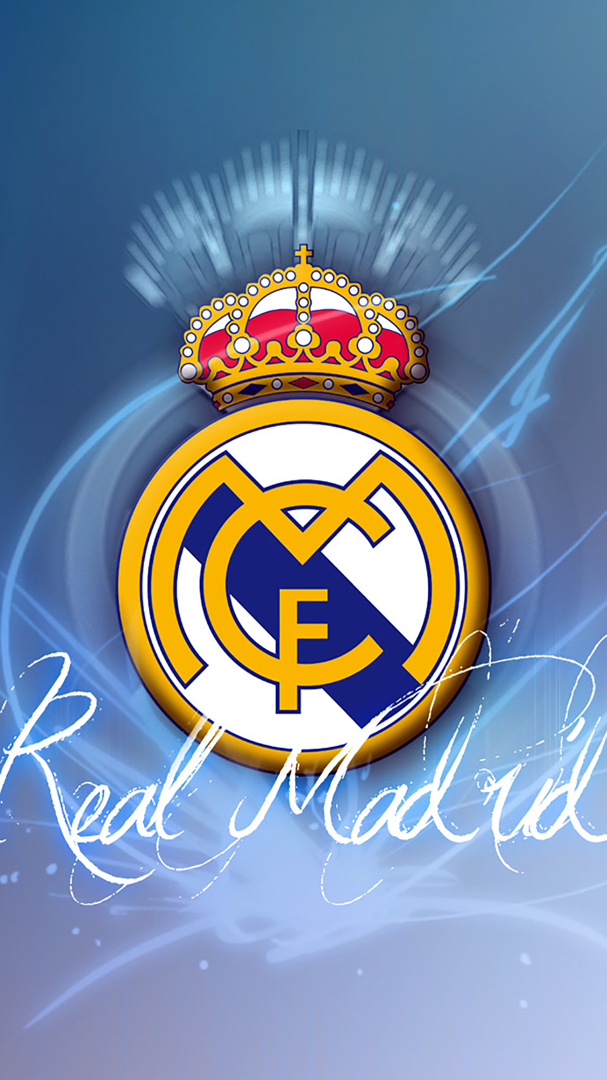 Real Madrid Logo 1 Wallpaper For Iphone X 8 7 6 Free Download