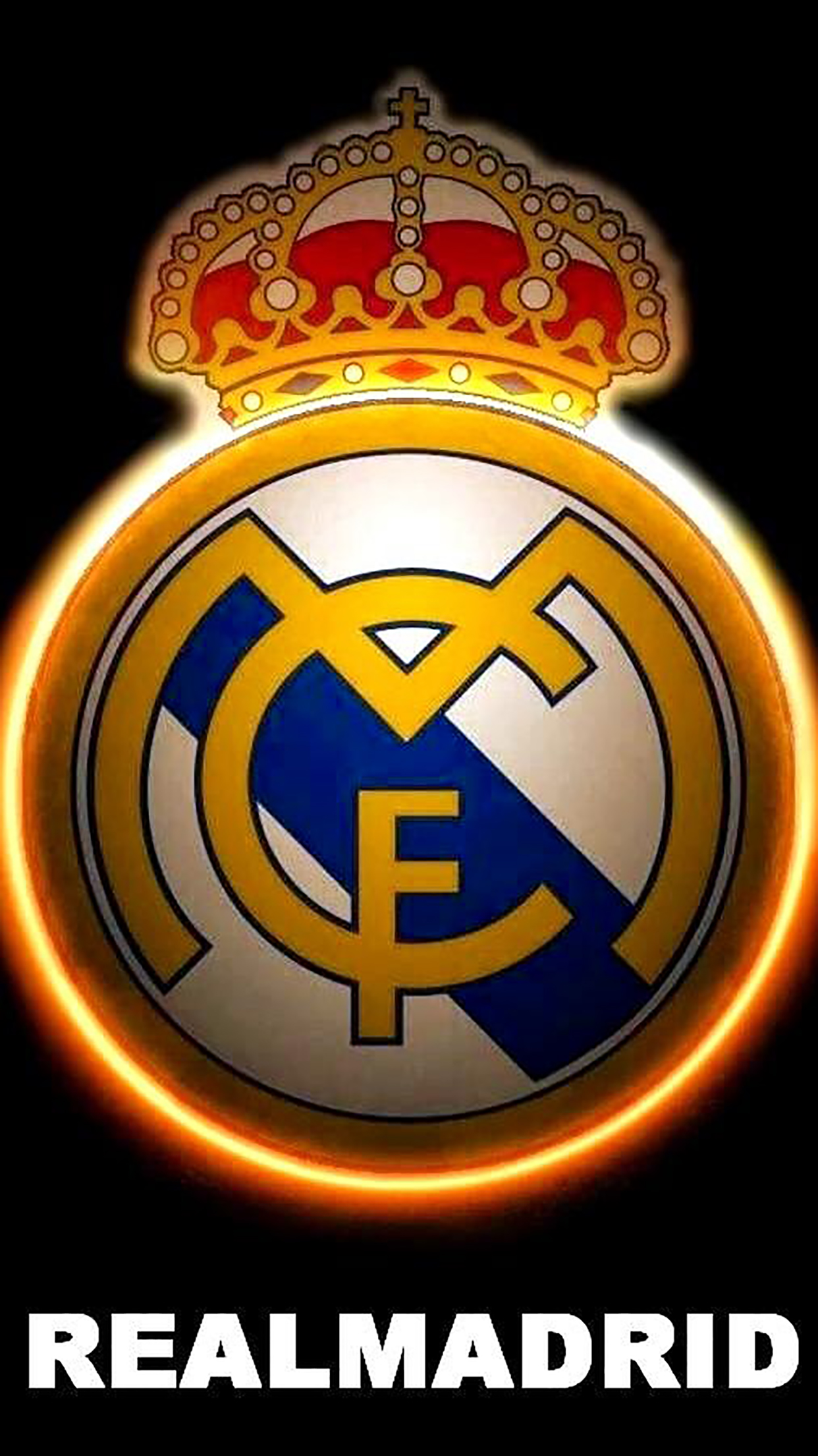 Real Madrid Logo 3 Wallpaper For Iphone X 8 7 6 Free Download