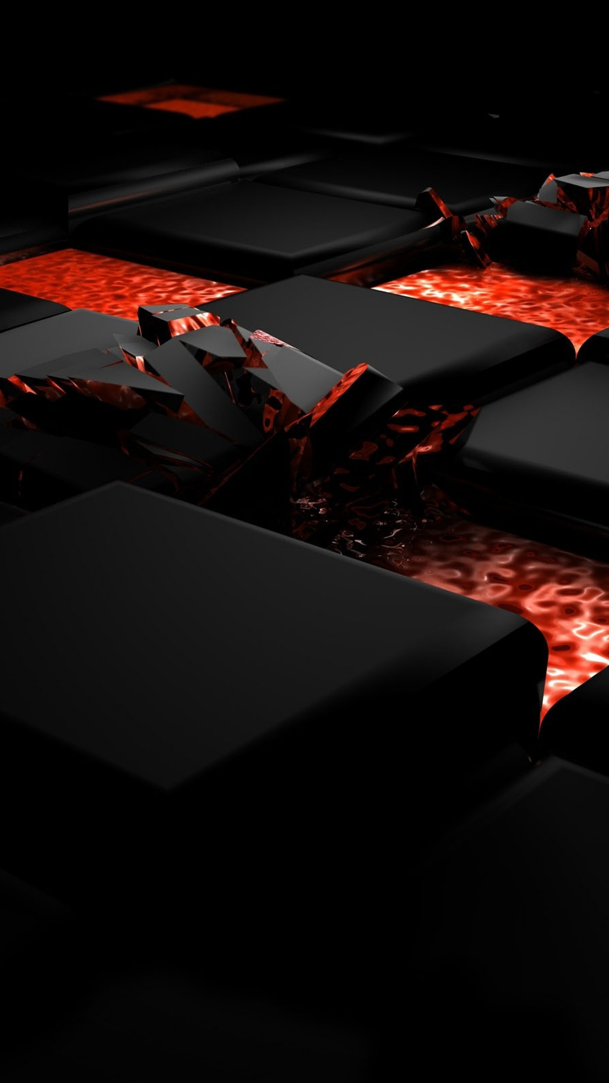 3D Picture Cube Fire 3Wallpapers iPhone Parallax 3D Picture : Cube Fire