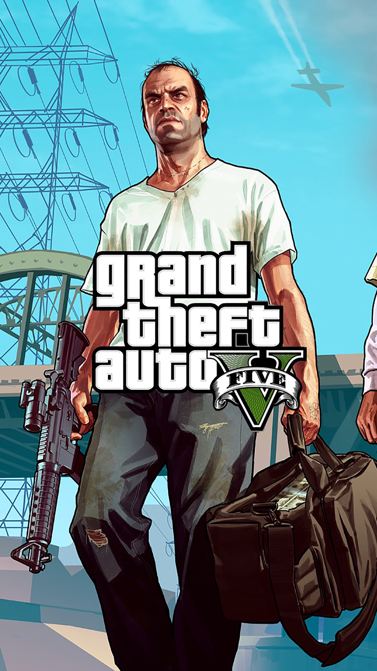 Grand Theft Auto 5 Poster 2 3Wallpapers iPhone Parallax Grand Theft Auto 5 : Poster 2