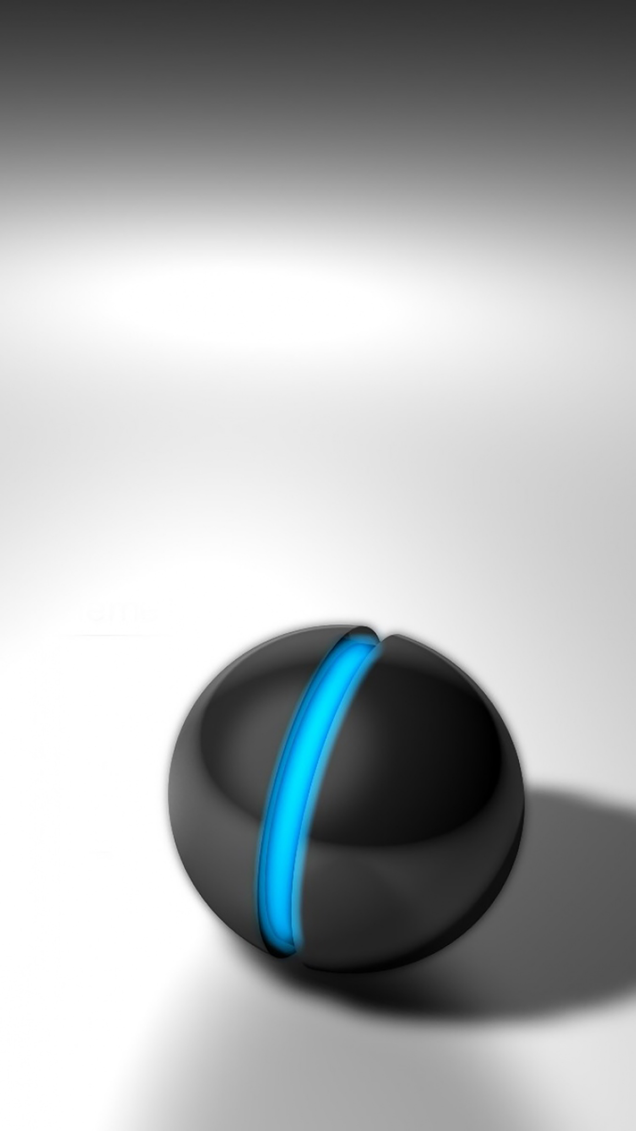 Marbles Black And Bleu 3Wallpapers iPhone Parallax Billes : Black And Bleu