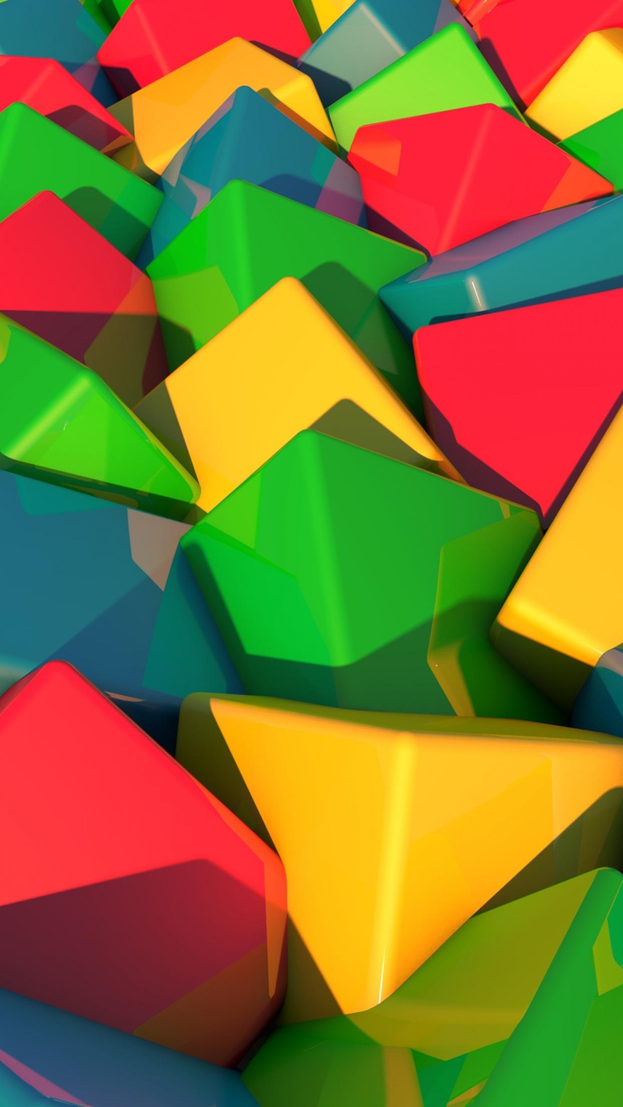 Multicolor Blocs 3Wallpapers iPhone Parallax Multicolor : Blocs