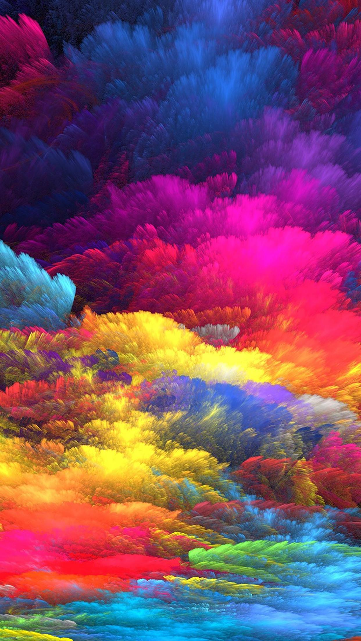 Multicolor Ink 3Wallpapers iPhone Parallax Multicolor : Ink