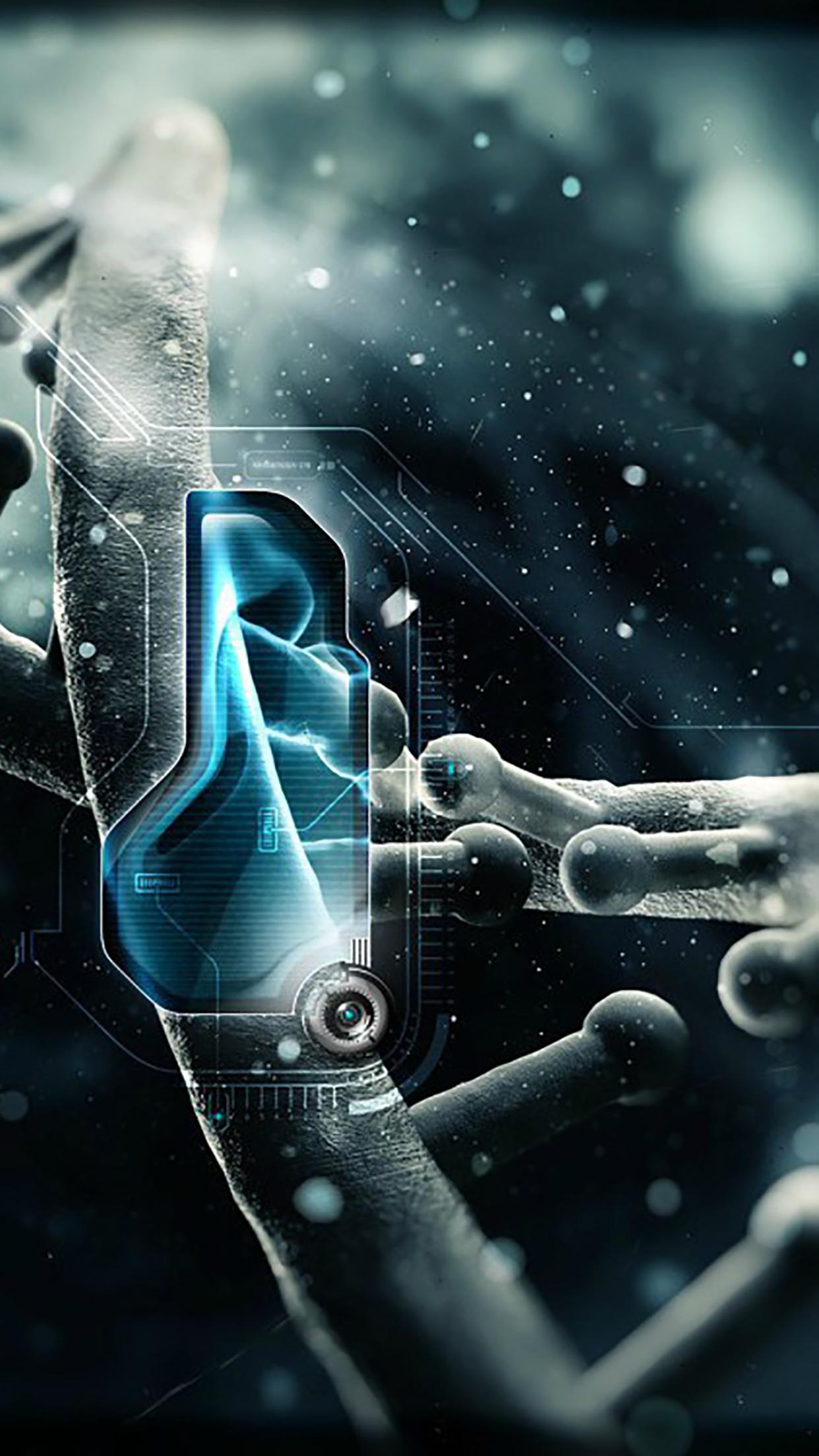 Nanotechnology ADN 3Wallpapers iPhone Parallax Nanotechnology : ADN