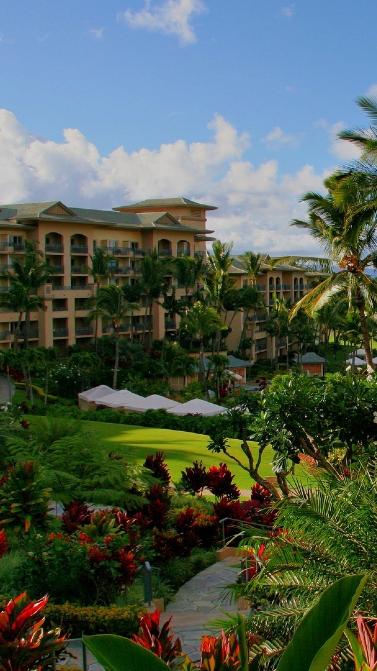 Hawaii Hotel Wallpaper For Iphone X 8 7 6 Free Download On