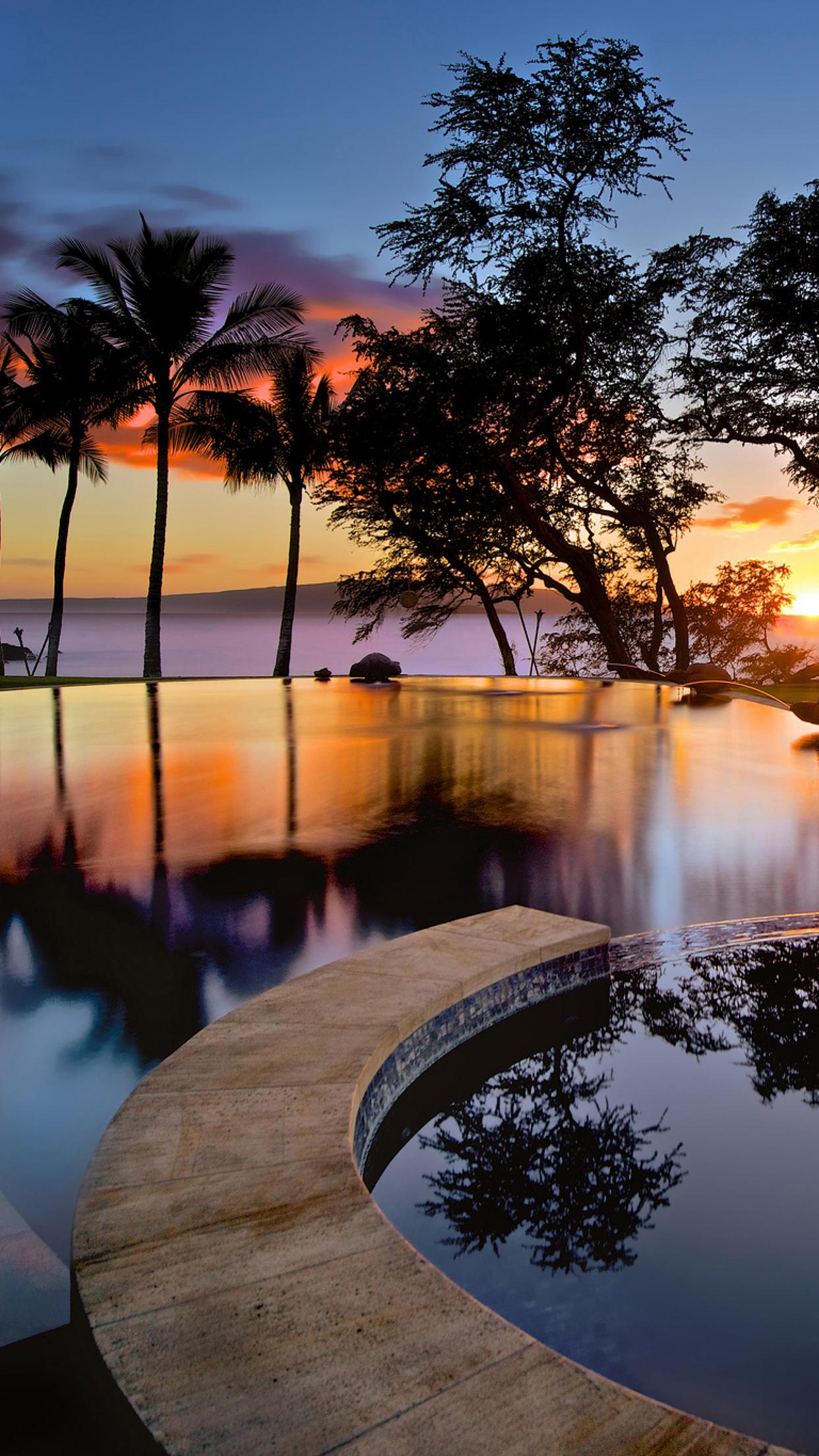Hawaii Pool 3Wallpapers iPhone Parallax 3Wallpapers : notre sélection de fonds décran du 14/07/2017