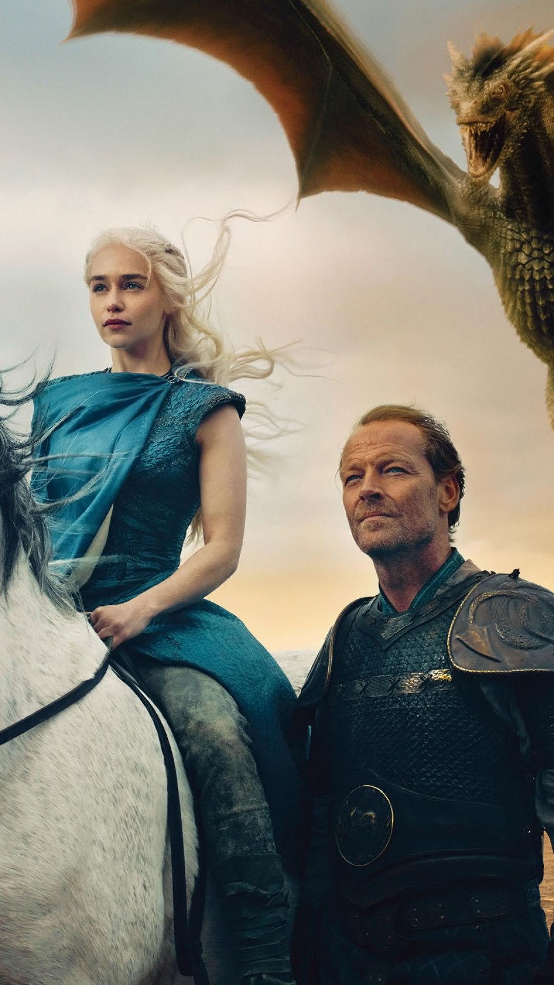 game of thrones daenerys targaryen emilia clarke jorah mormont iain glen dragons 94900 1080x1920 3Wallpapers : notre sélection de fonds décran du 15/08/2017