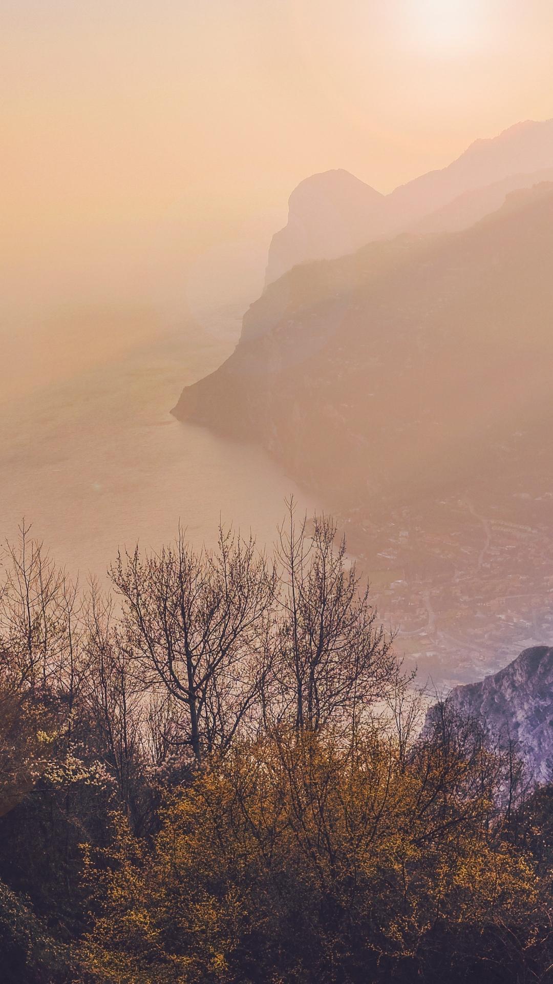 iphone wallpaper trees sea mountains fog 3Wallpapers : notre sélection de fonds décran du 31/08/2017