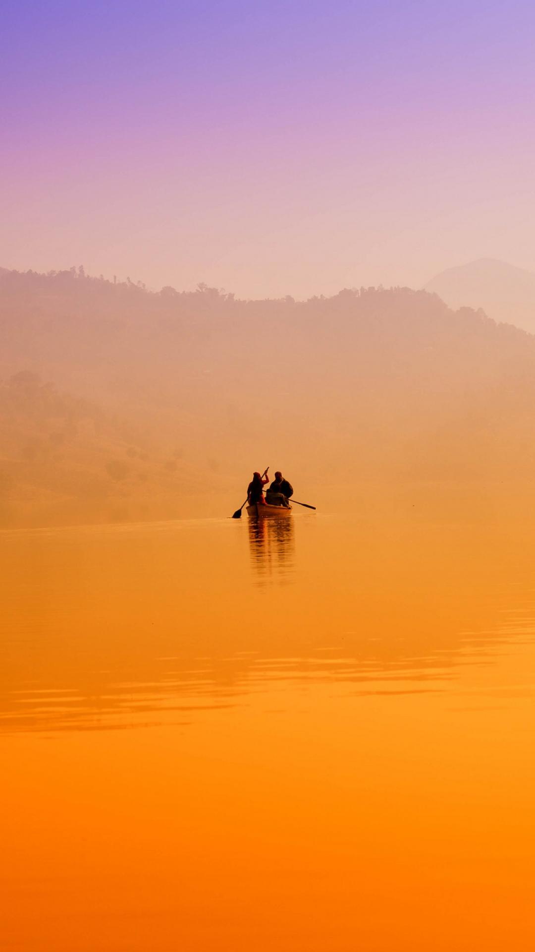 boat lake mist hills 100244 1080x1920 3Wallpapers : notre sélection de fonds d'écran du 22/09/2017