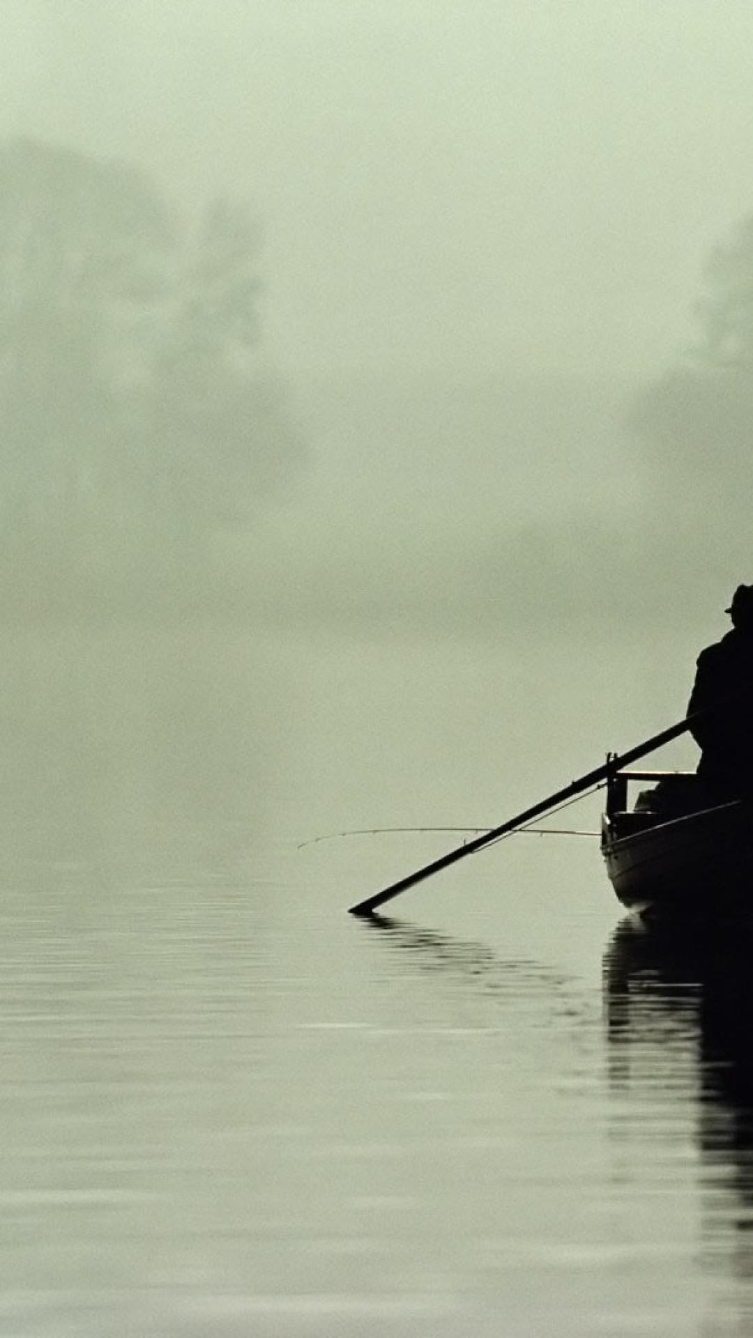 boat person rowing outlines silhouette fog lake 60643 1080x1920 3Wallpapers : notre sélection de fonds d'écran du 22/09/2017