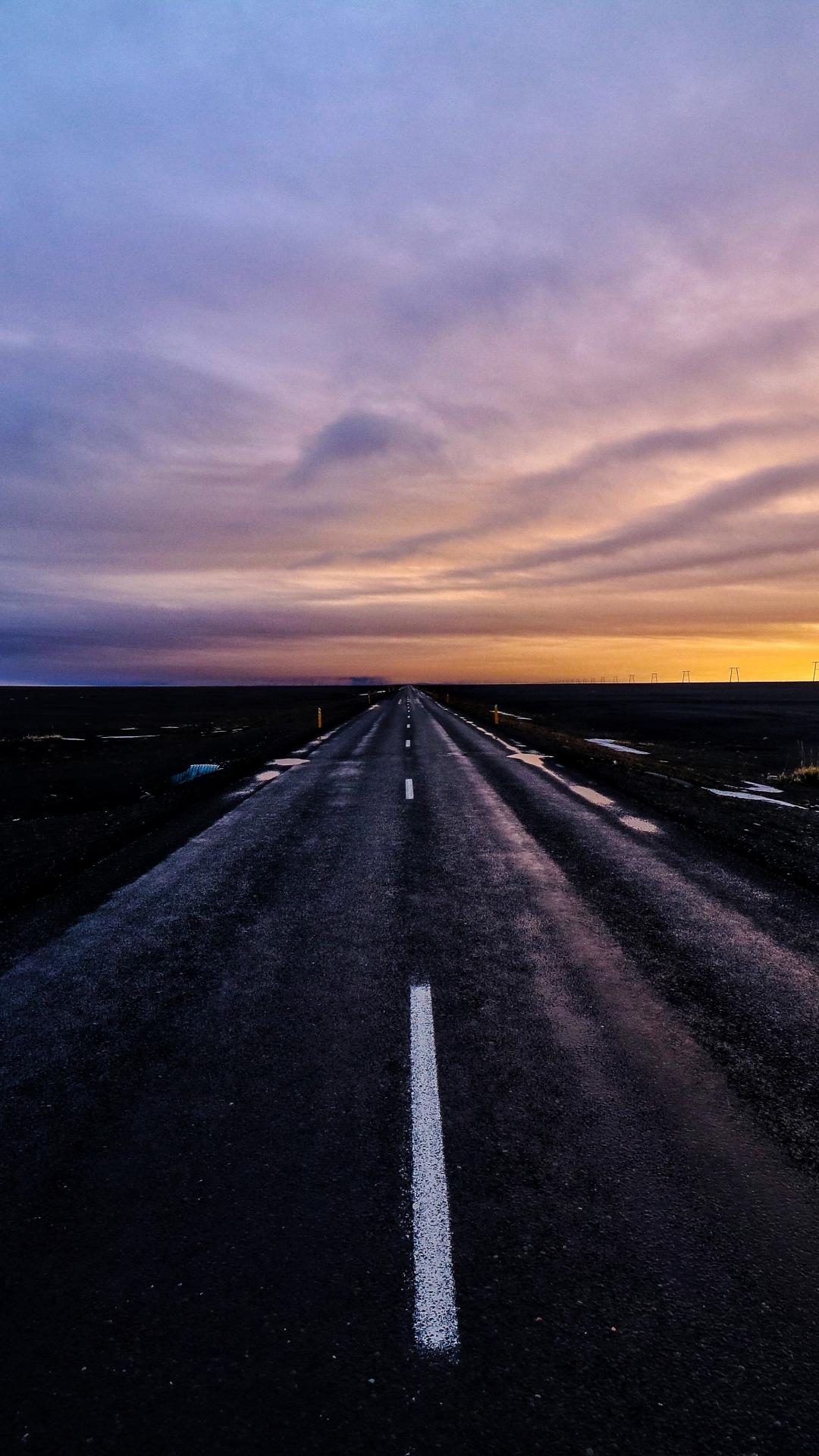 iphone wallpaper road marking sunset 3Wallpapers : notre sélection de fonds décran du 11/09/2017