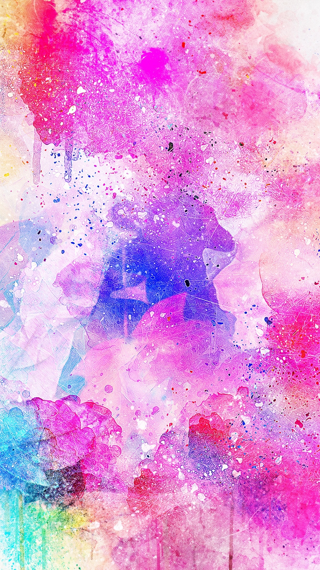 iphone wallpaper watercolor spots bright pink 3Wallpapers : notre sélection de fonds décran du 06/09/2017