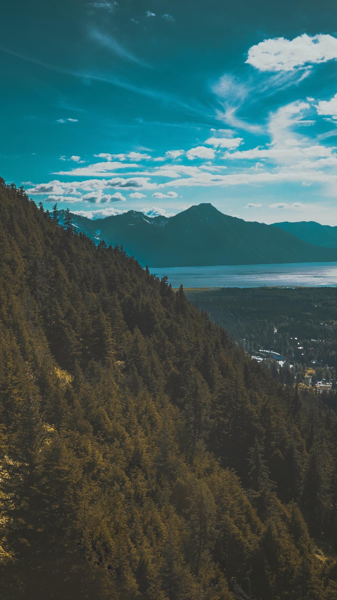 mountains lake trees sky 117283 1080x1920 Mountain