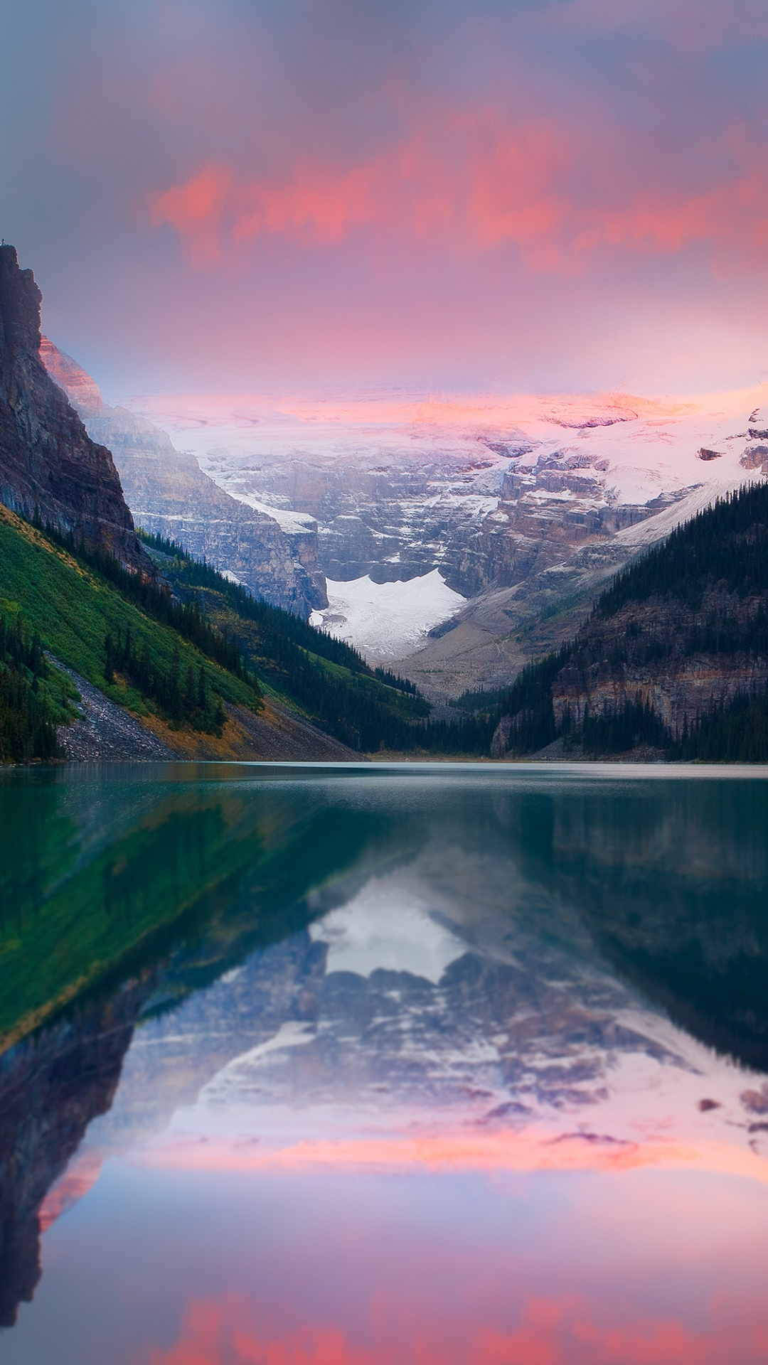 mountains sunset lake sky snow peaks 93192 1080x1920 3Wallpapers : notre sélection de fonds d'écran du 25/09/2017