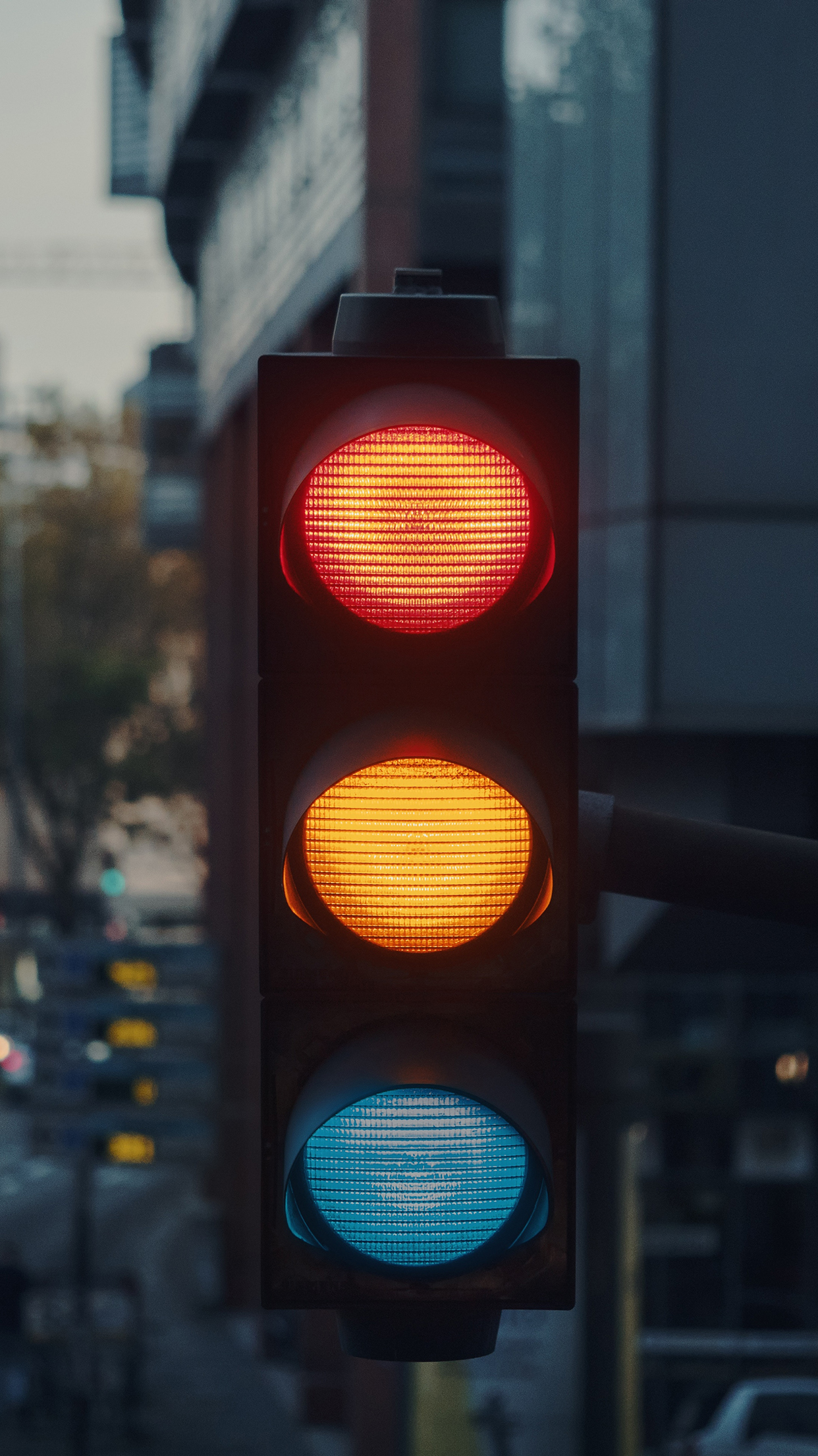 Traffic Light City 3Wallpapers iPhone Parallax Traffic Light : City