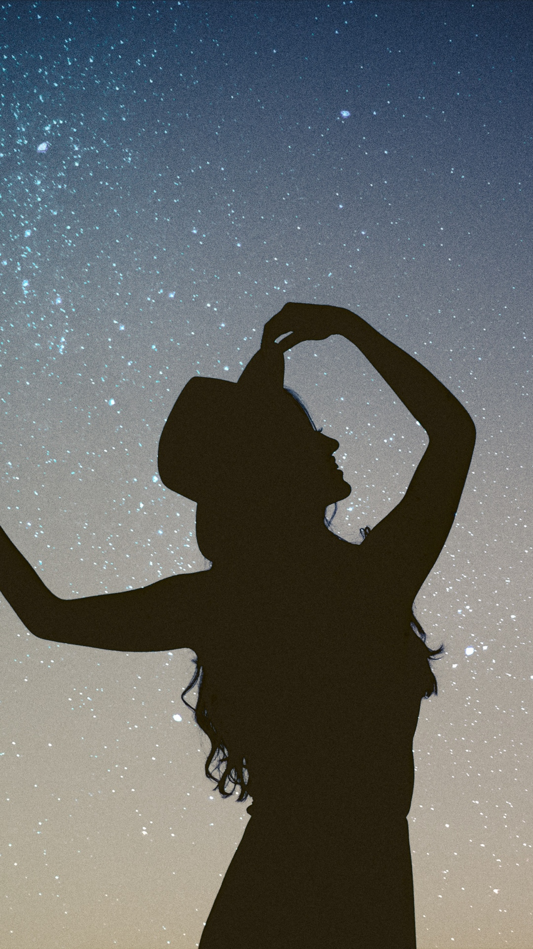 iphone wallpaper silhouette girl starry 3Wallpapers : notre sélection de fonds d'écran du 06/11/2017