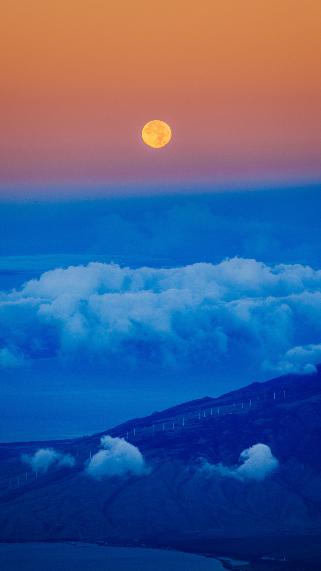 iPhone Wallpaper Blue Moon Moon
