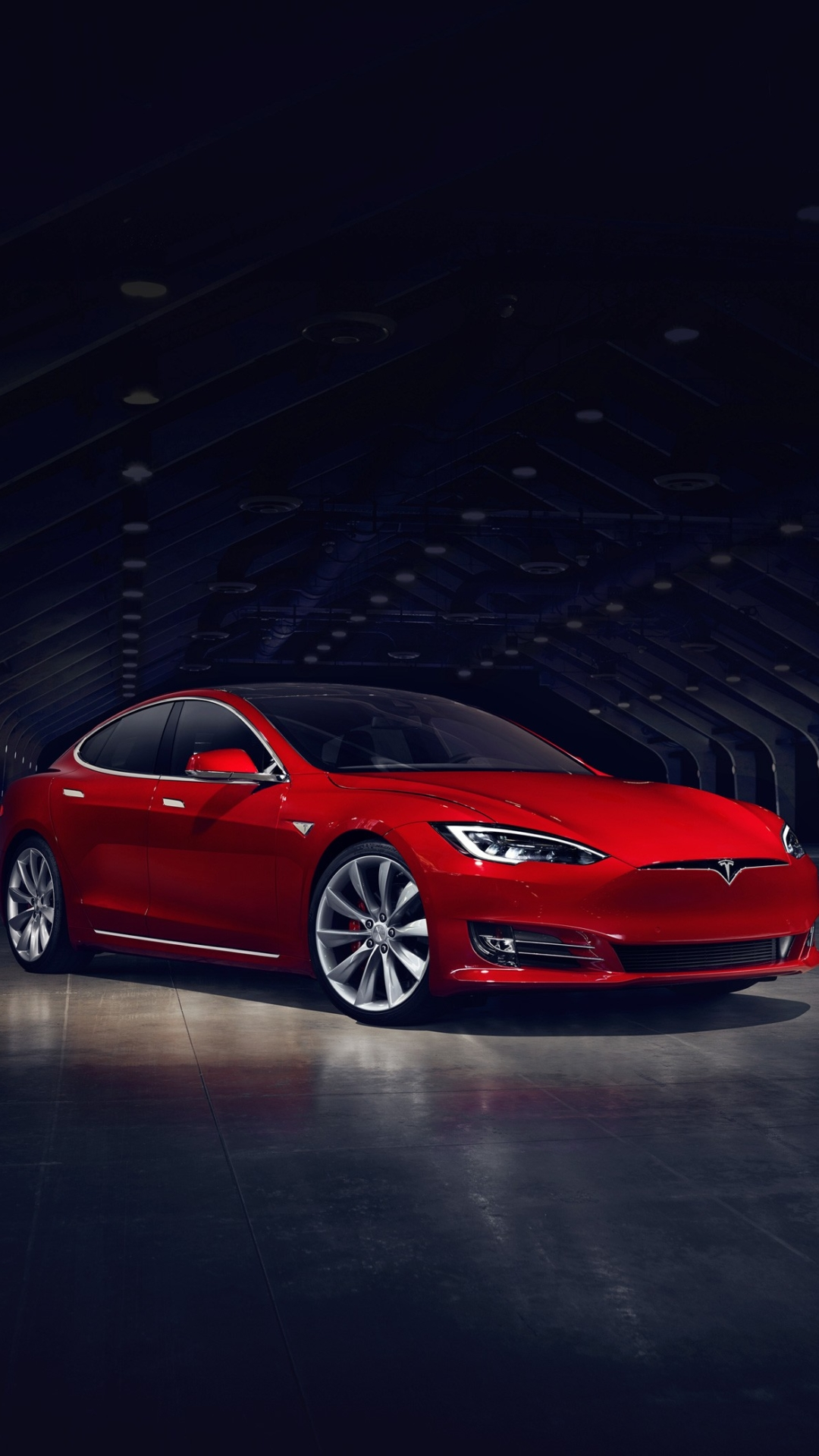 iPhone wallpaper Red Tesla Model S Les 3Wallpapers iPhone du jour (13/02/2018)