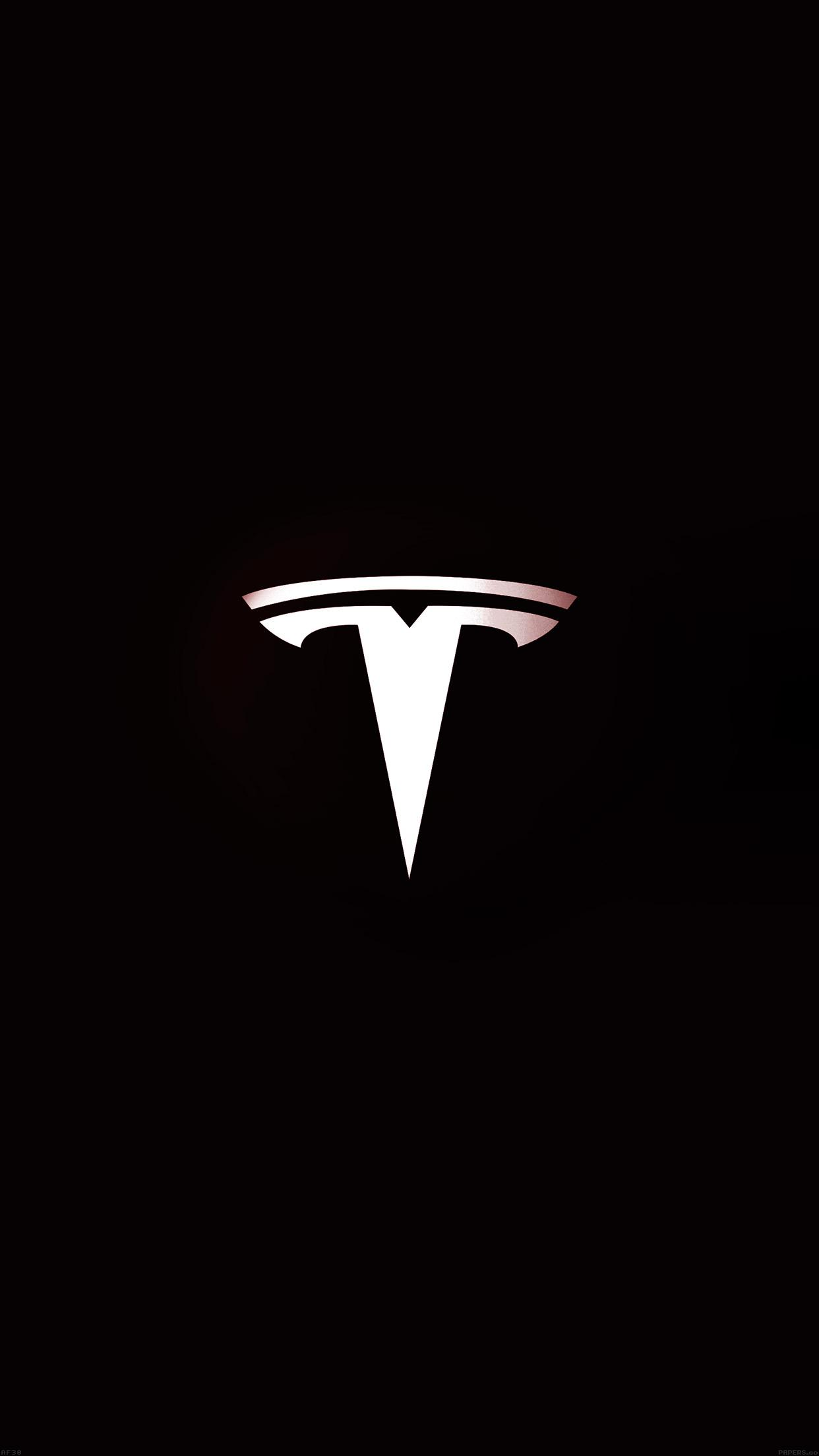 iPhone wallpaper Tesla Motors Logo Dark 3Wallpapers : notre sélection de fonds d'écran du 13/02/2018