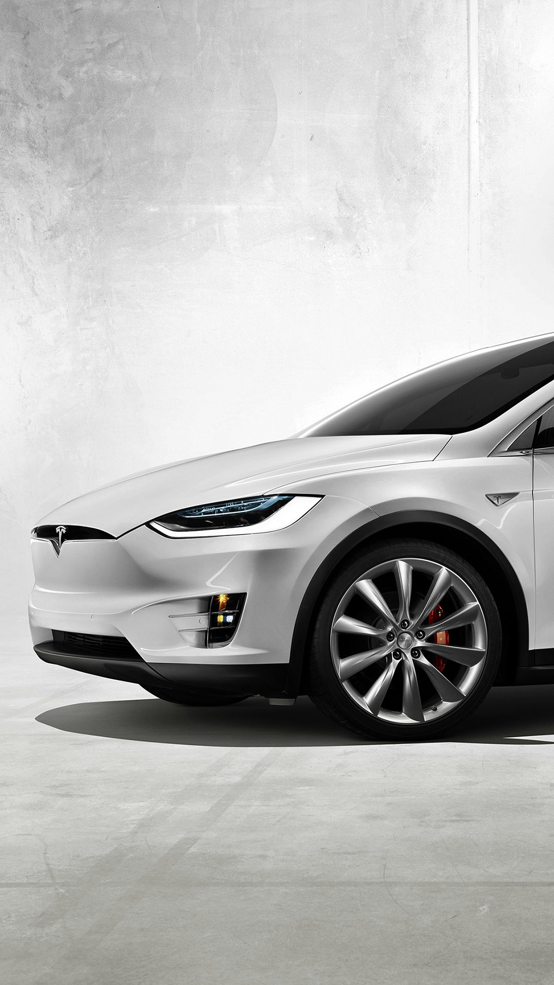 iPhone wallpaper White Tesla Model X Les 3Wallpapers iPhone du jour (13/02/2018)