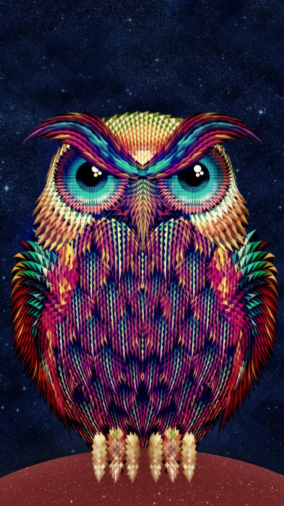 iPhone wallpaper owl art 3Wallpapers : notre sélection de fonds d'écran du 15/02/2018