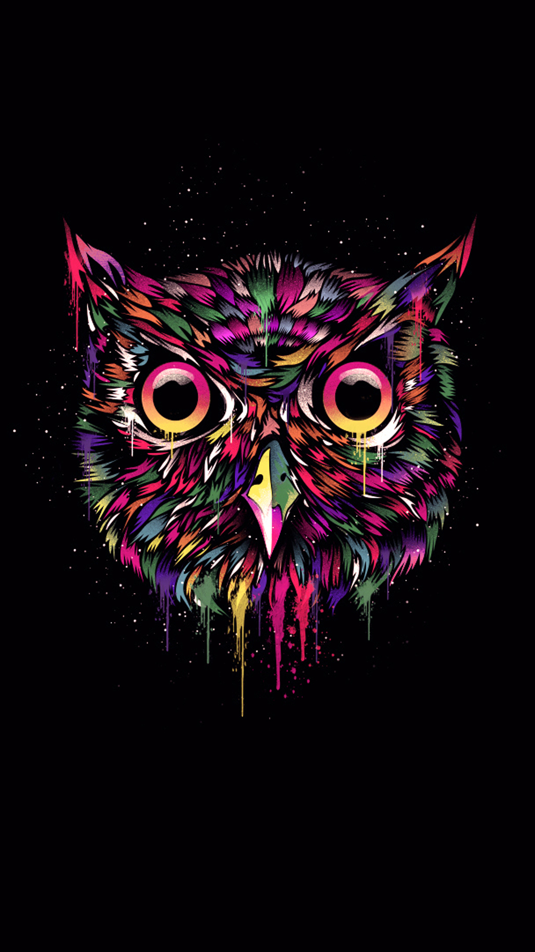 iPhone wallpaper owl colors Owl