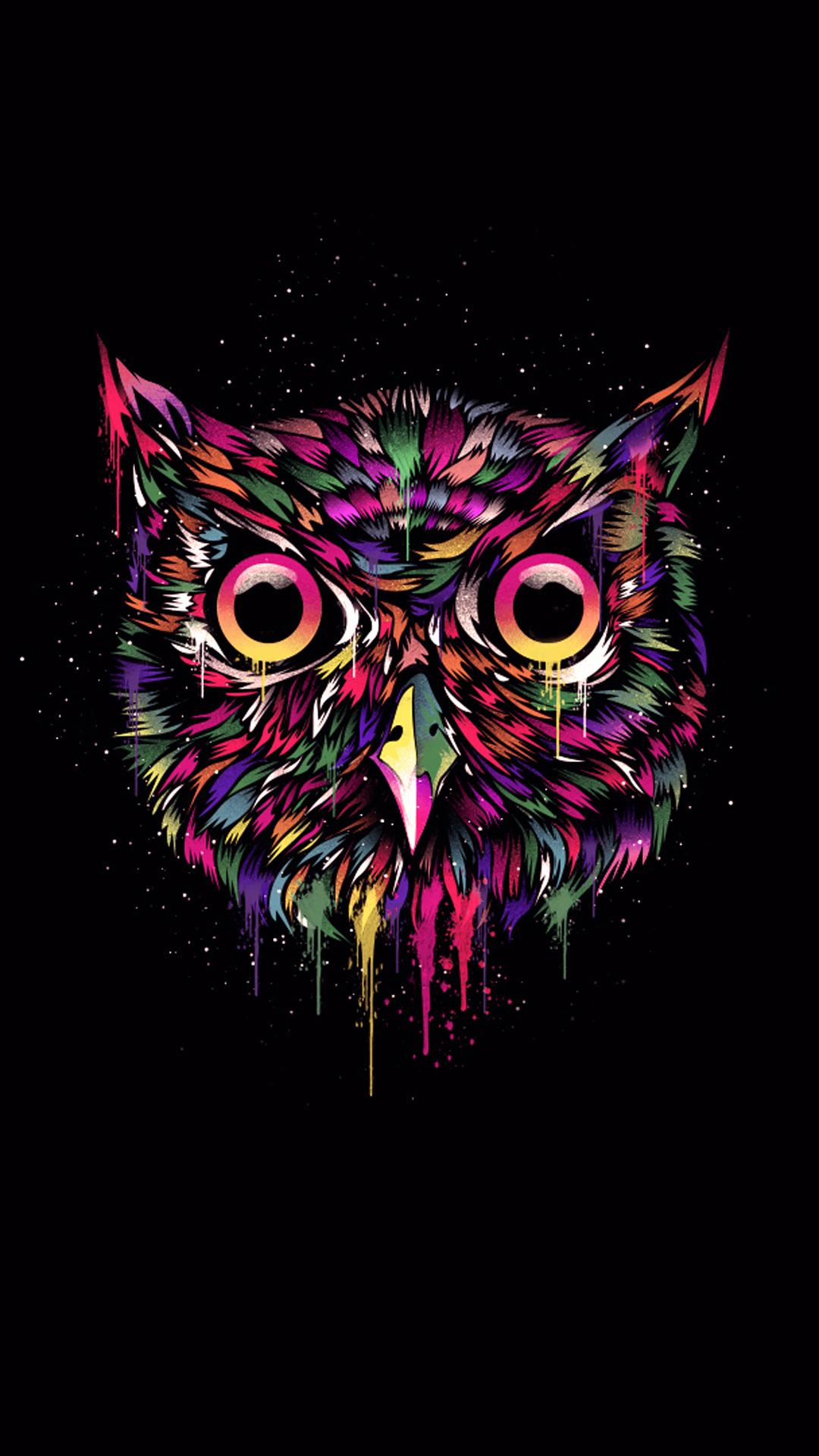 iPhone wallpaper owl colors 3Wallpapers : notre sélection de fonds d'écran du 15/02/2018