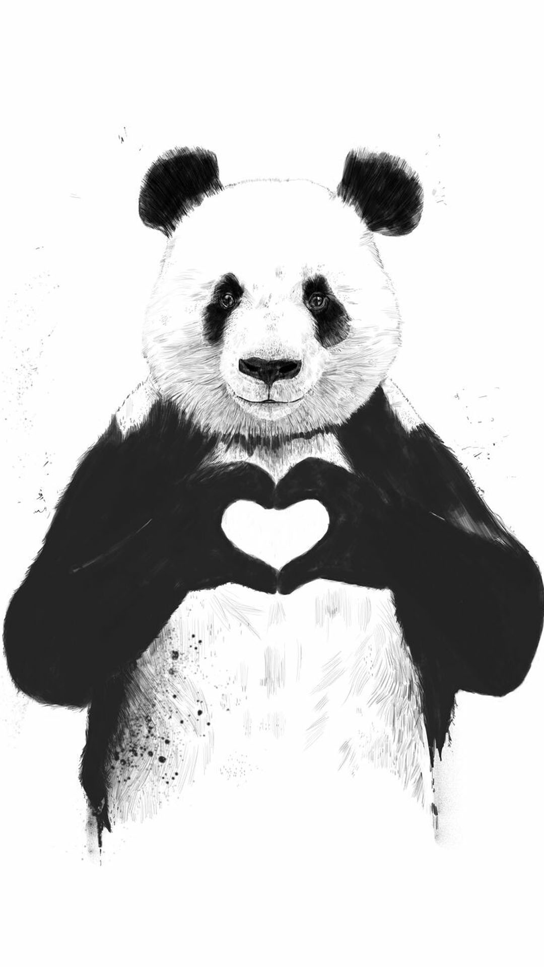 iPhone wallpaper panda heart 3Wallpapers : notre sélection de fonds d'écran du 27/02/2018