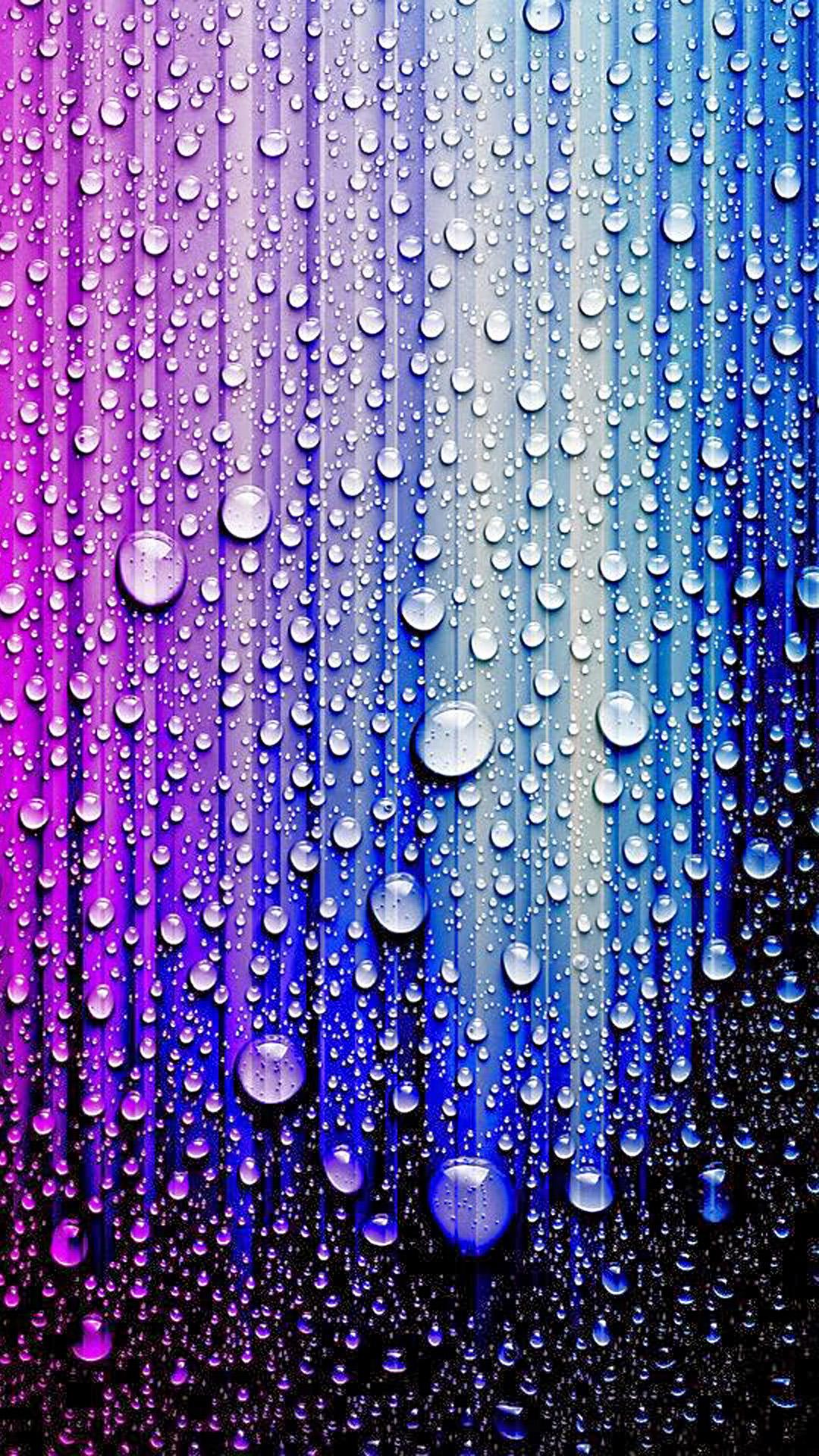 iPhone wallpaper water drops multicolors Water drops