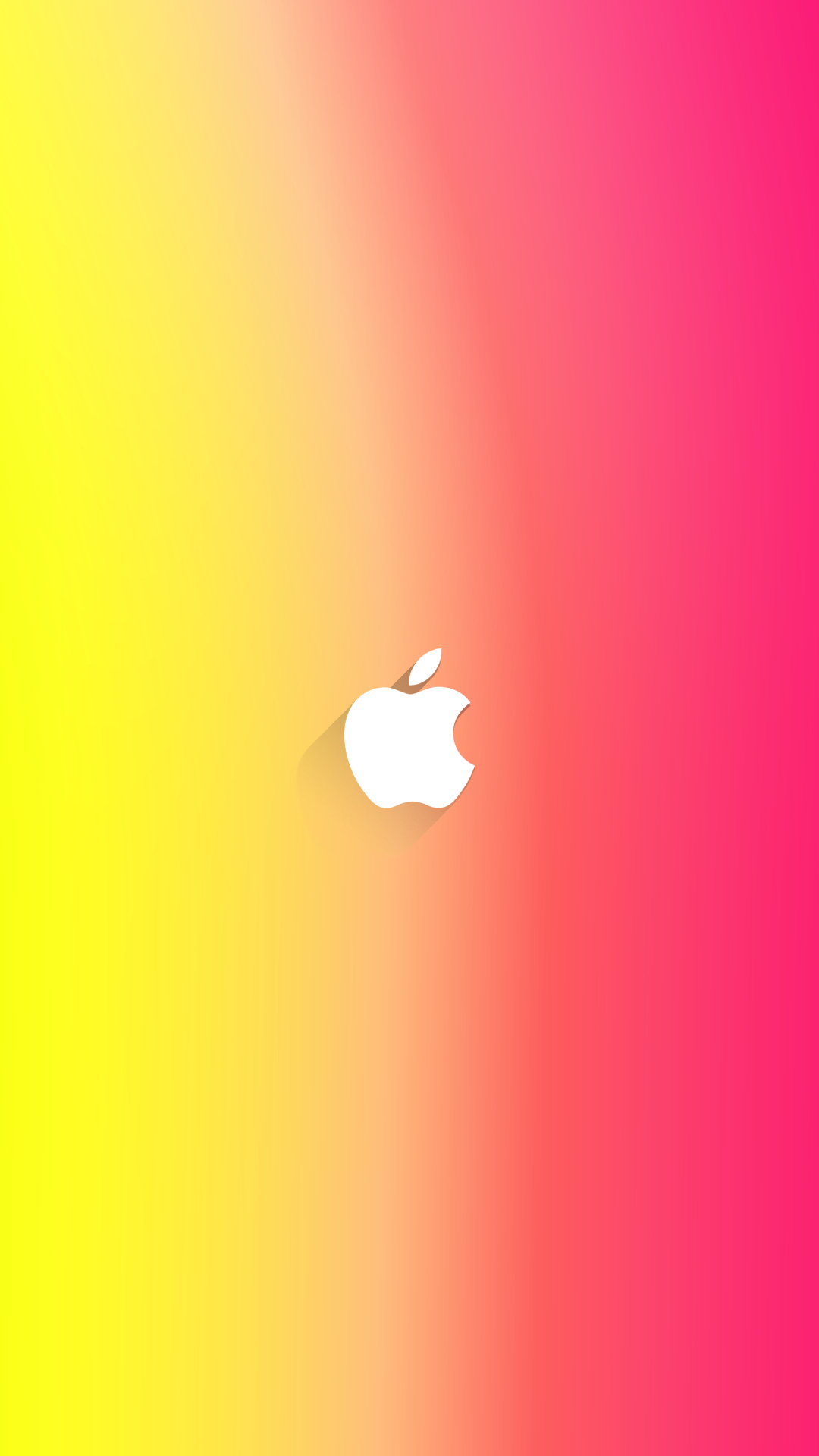 iPhone wallpaper apple logo yellow pink Apple Logo