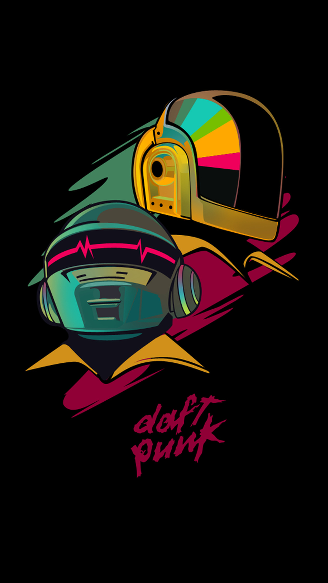 iPhone wallpaper daft punk colors Les 3Wallpapers iPhone du jour (19/03/2018)