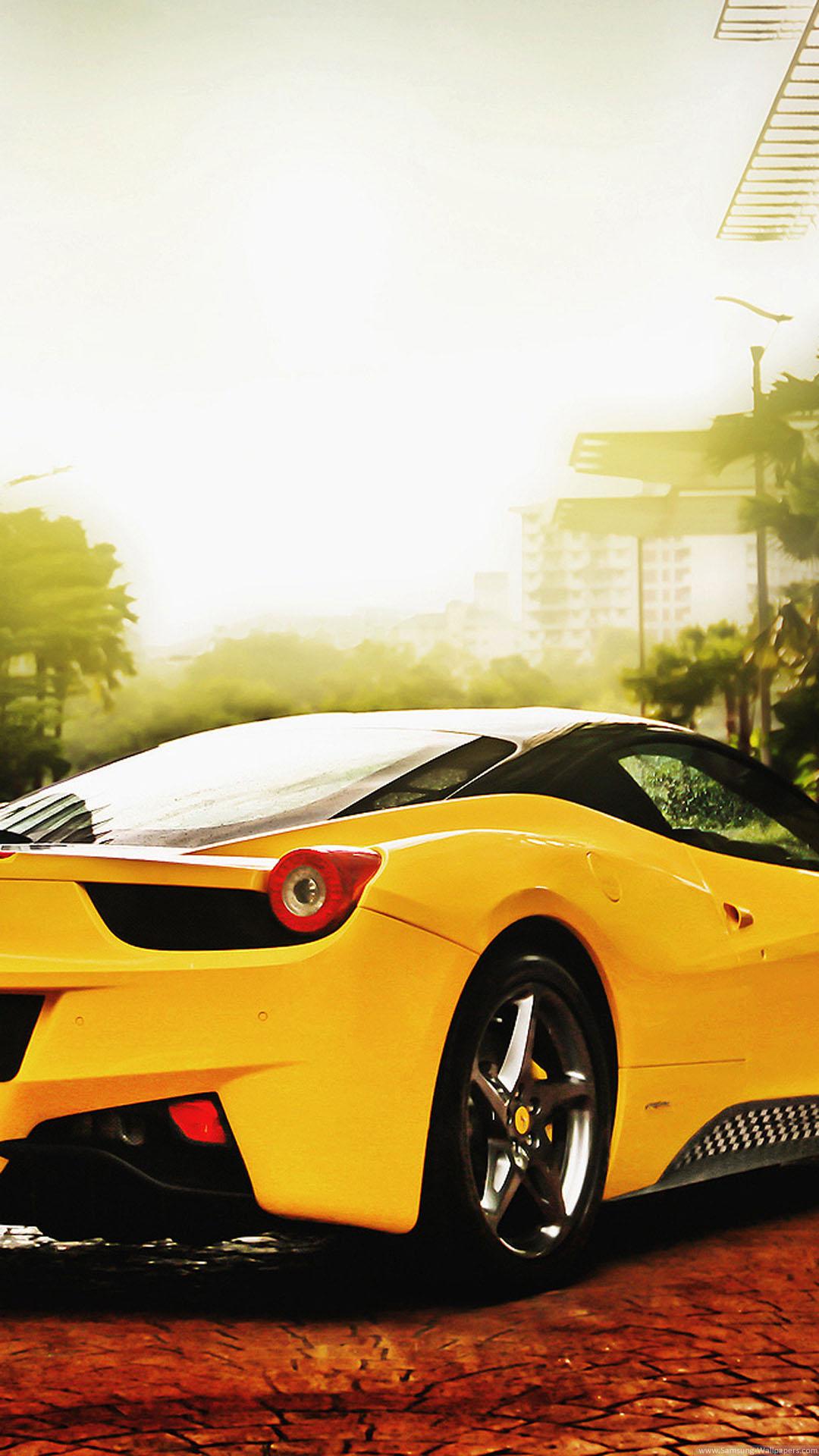 iPhone wallpaper ferrari yellow Ferrari