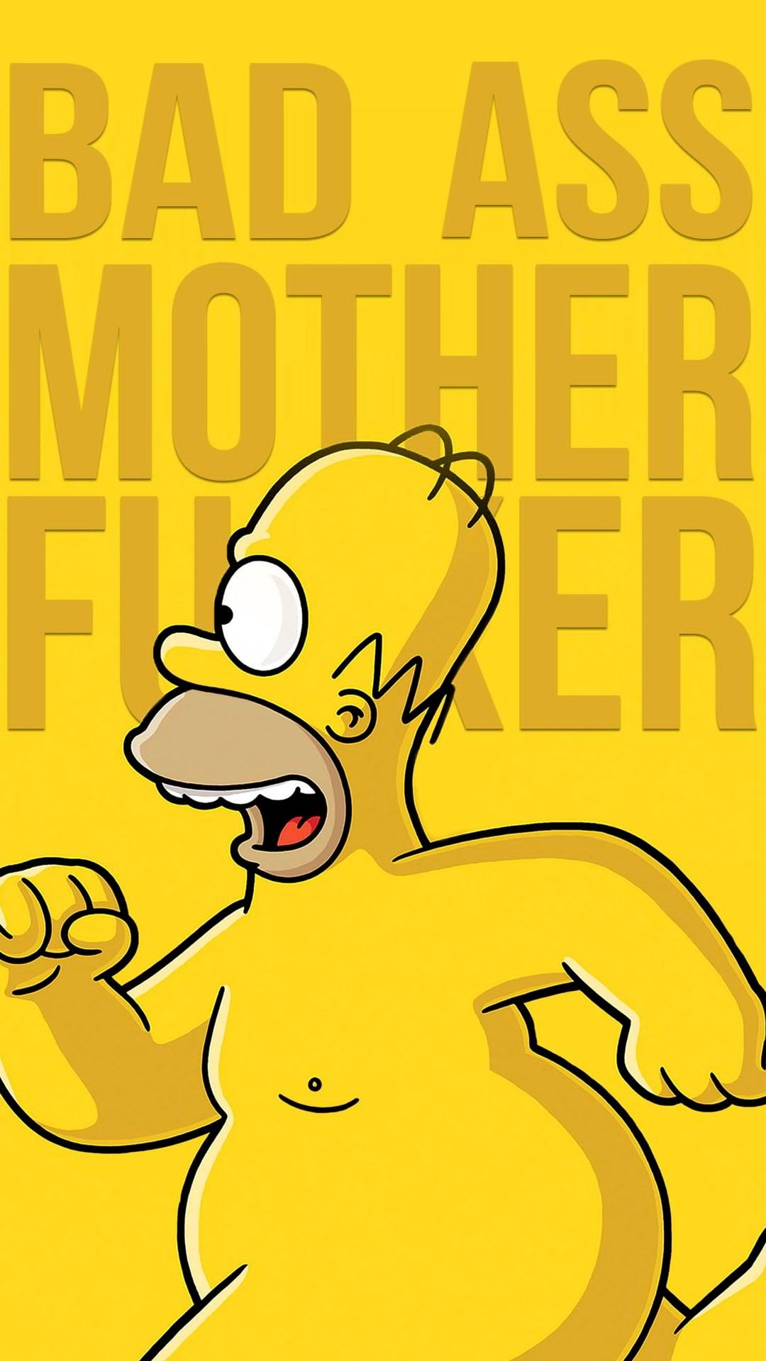 iPhone wallpaper homer running Homer
