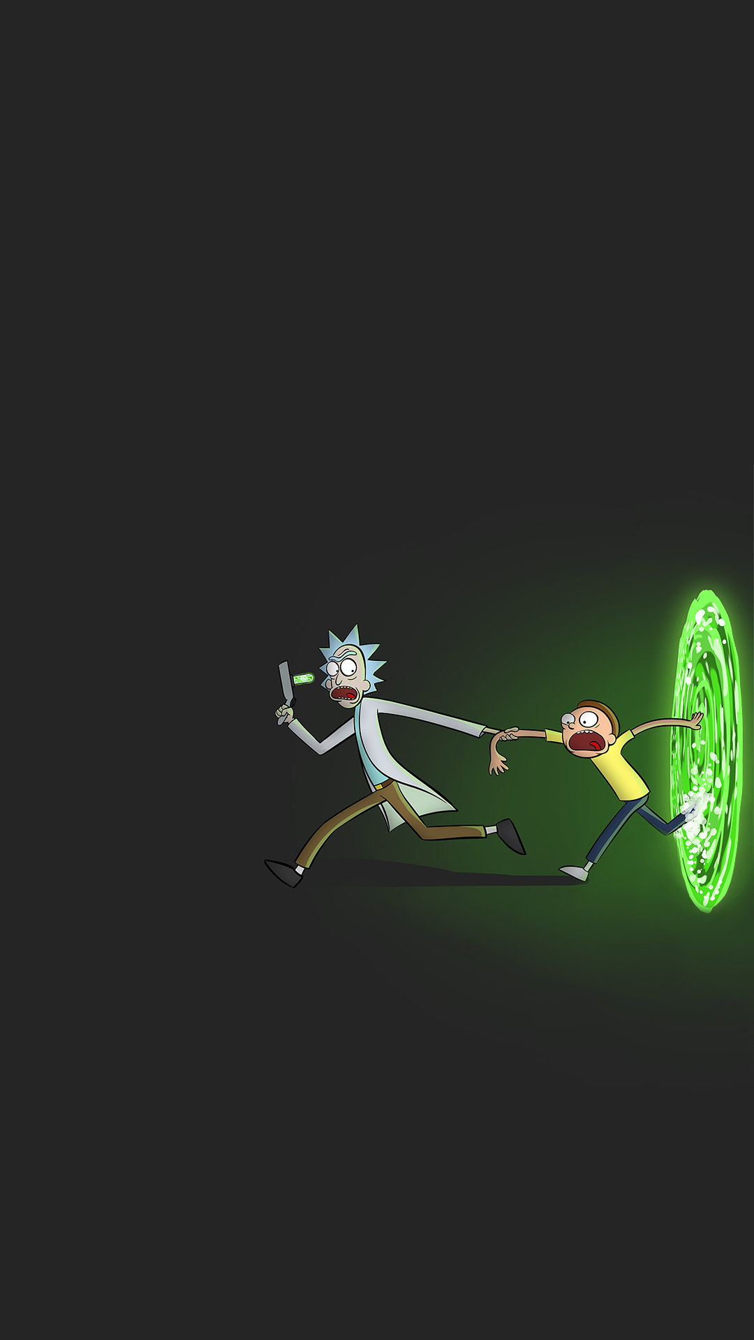 iPhone wallpaper rick and morty1 Les 3Wallpapers iPhone du jour (12/03/2018)