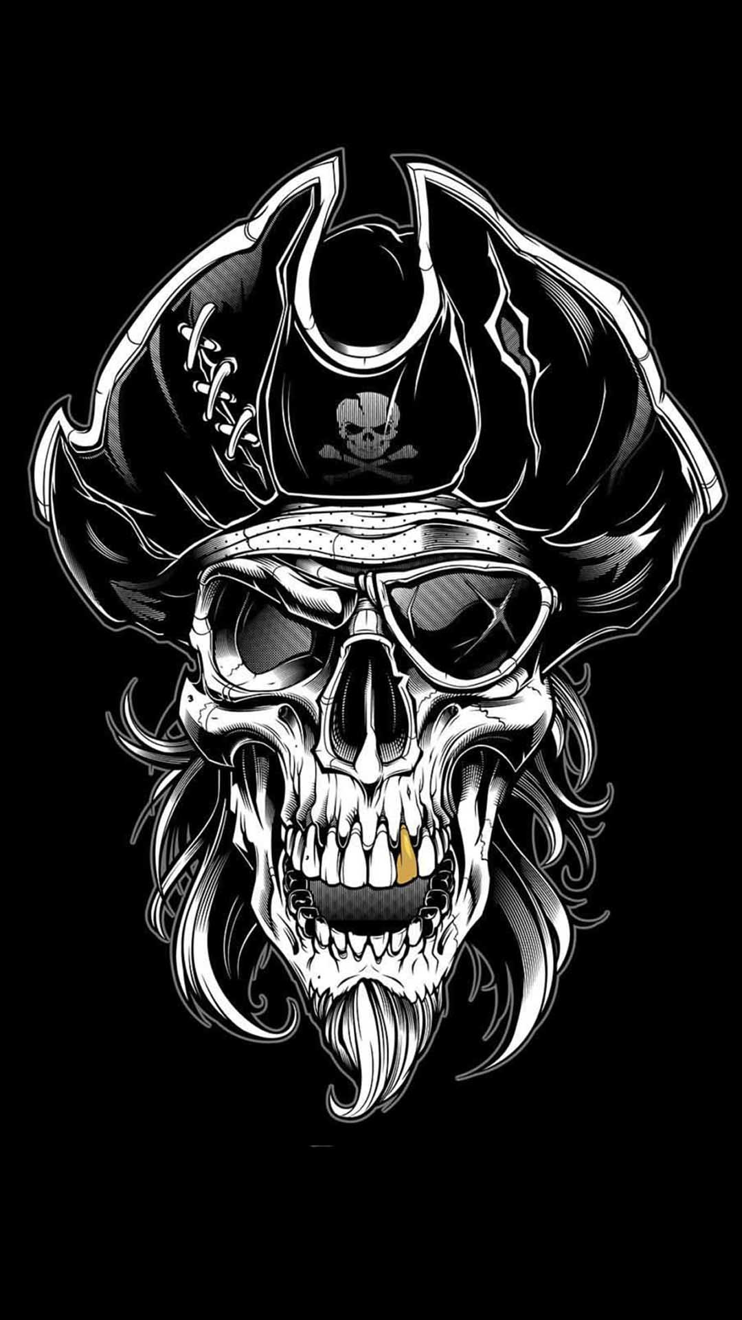 iPhone wallpaper skull pirate Skull