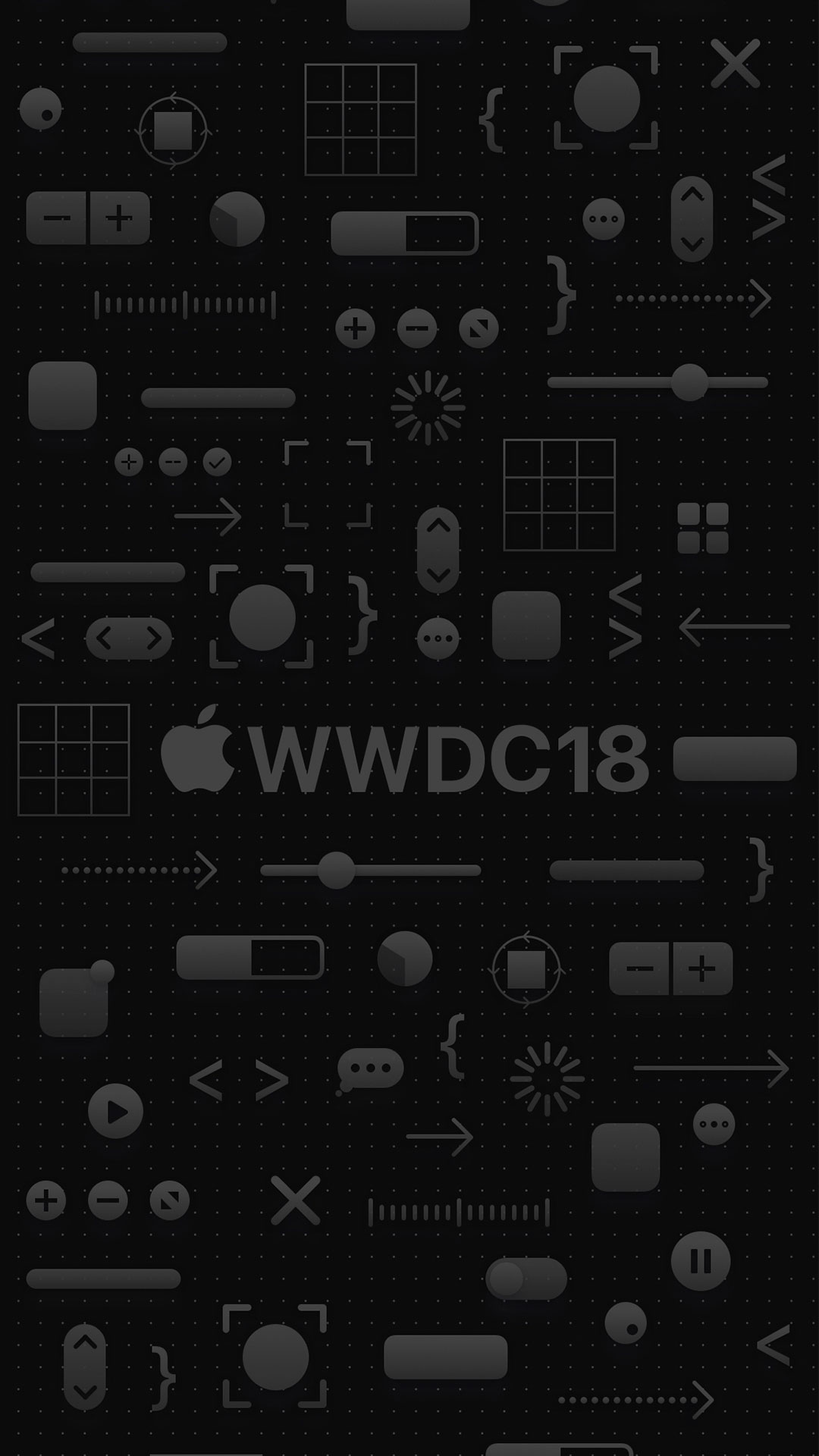 iPhone wallpaper wwdc icons black 3Wallpapers : notre sélection de fonds d'écran du 16/03/2018