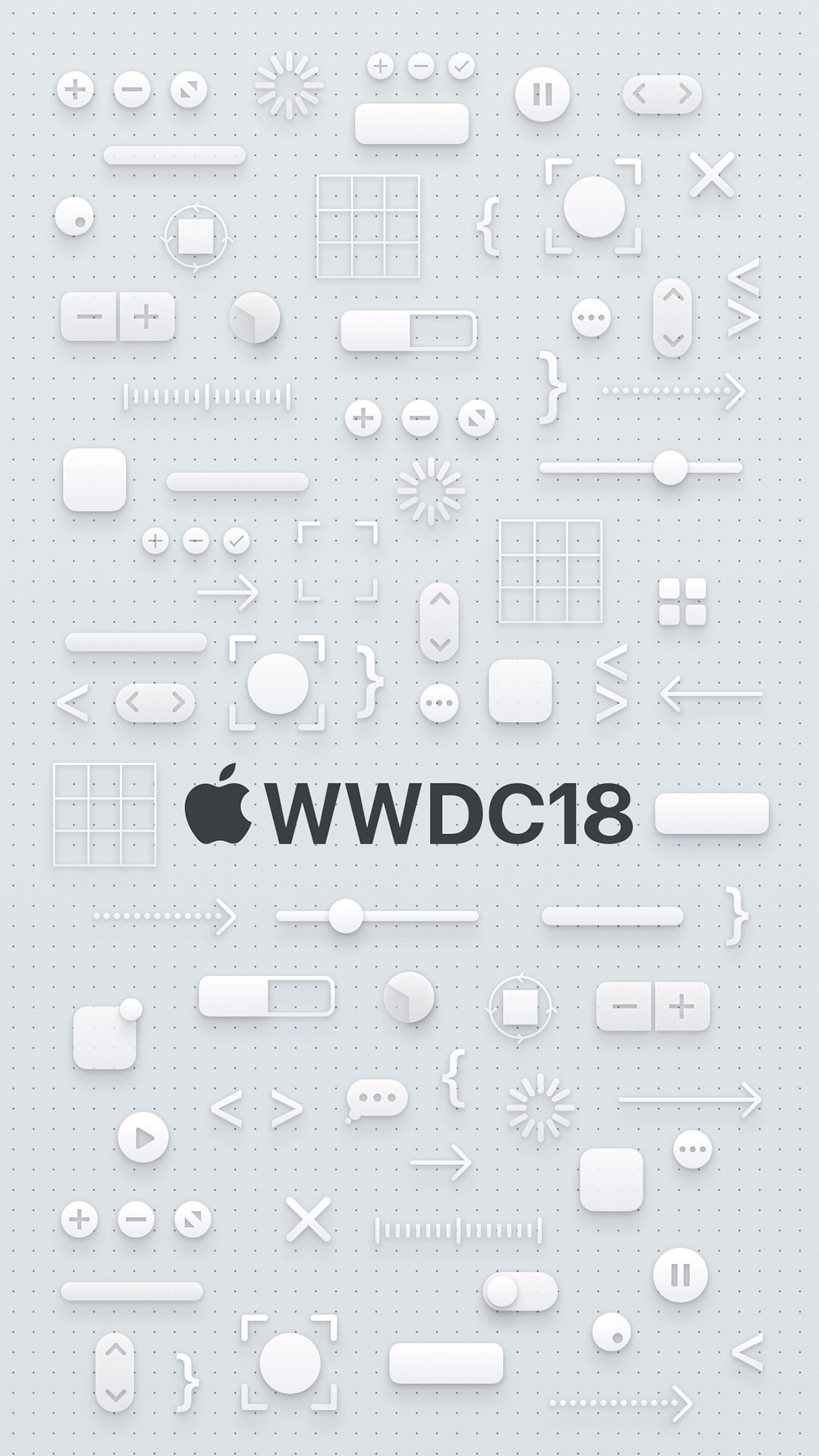iPhone wallpaper wwdc icons white 3Wallpapers : notre sélection de fonds d'écran du 16/03/2018