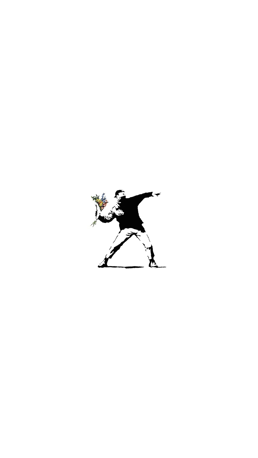 iPhone wallpaper banksy throw flowers 3Wallpapers : notre sélection de fonds d'écran du 10/04/2018