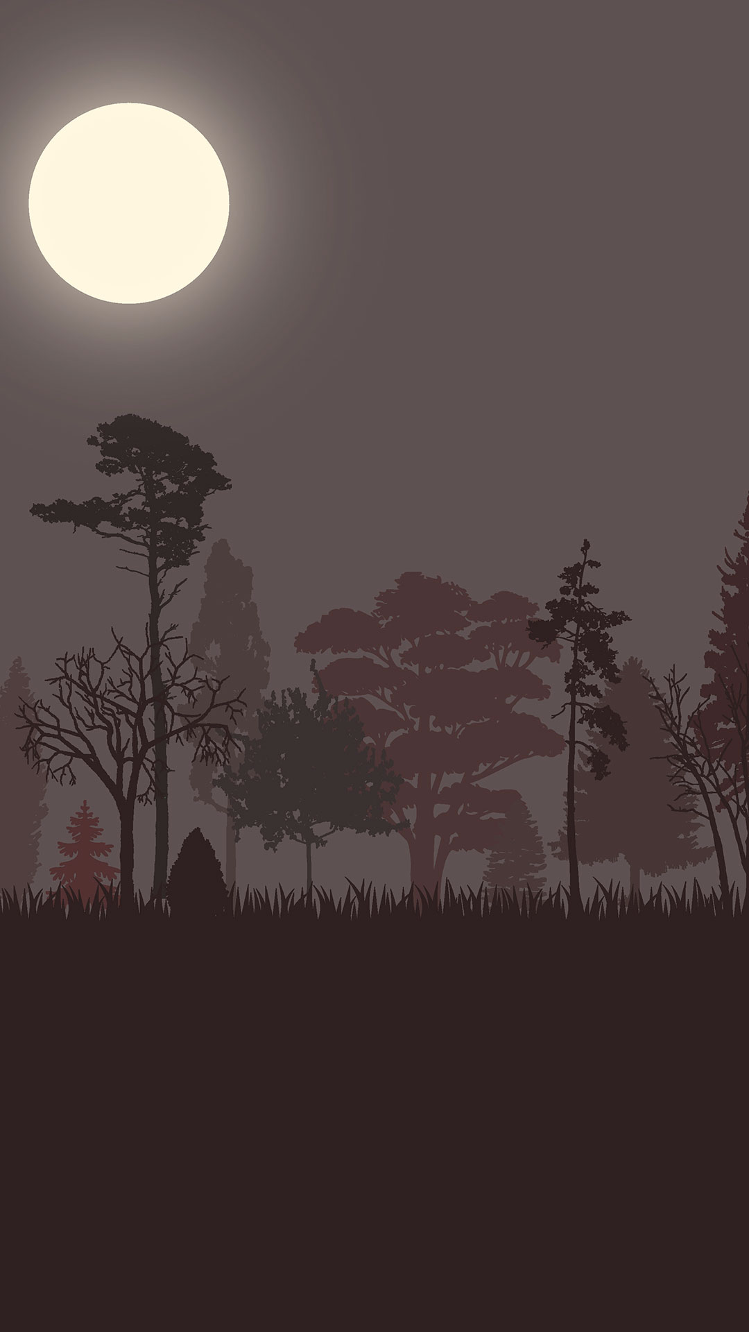 iPhone wallpaper drawing forest Drawing