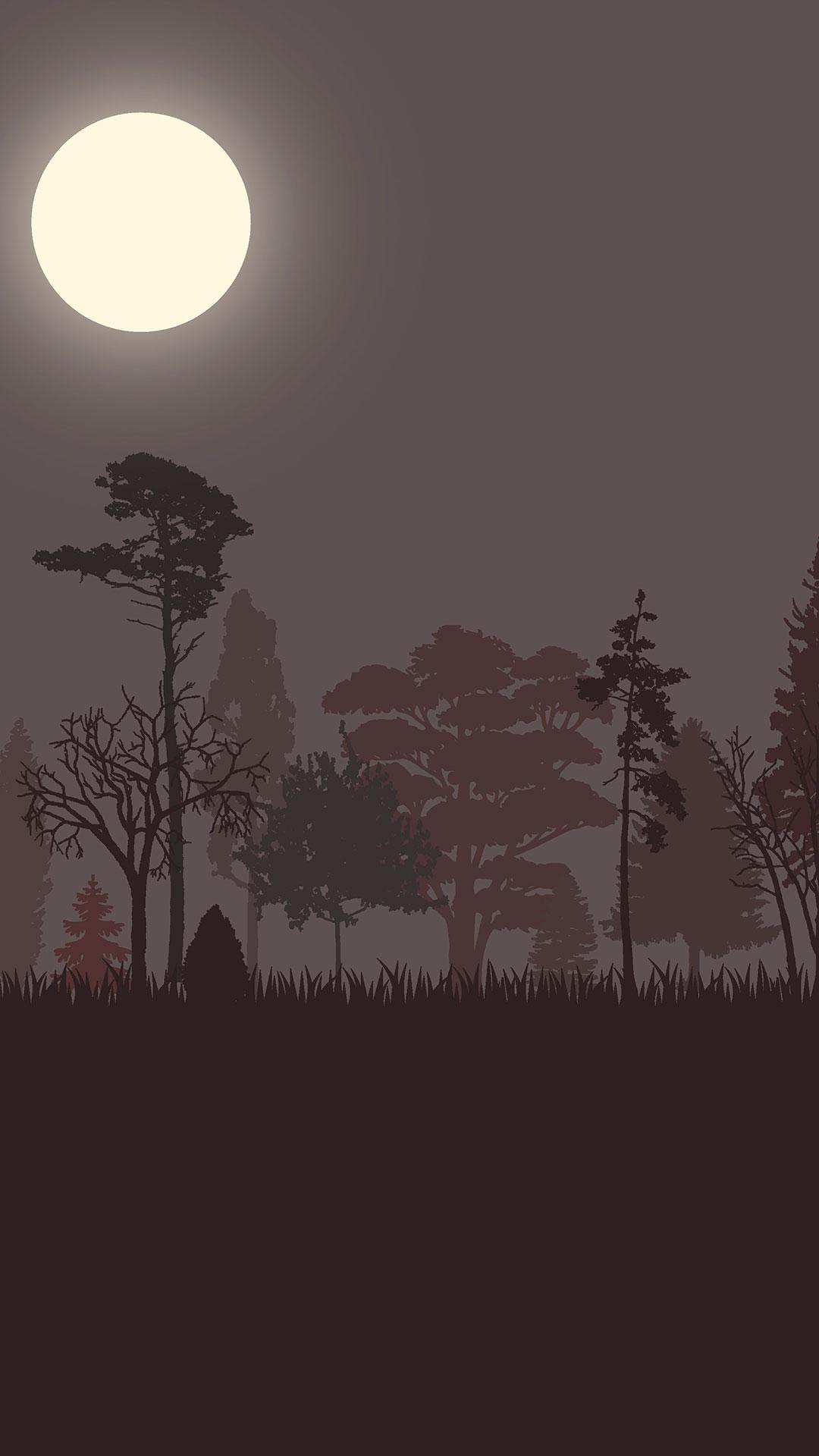 iPhone wallpaper drawing forest 3Wallpapers : notre sélection de fonds d'écran du 17/04/2018