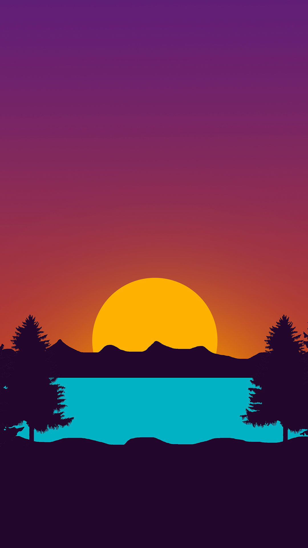 iPhone wallpaper drawing sunset Les 3Wallpapers iPhone du jour (17/04/2018)