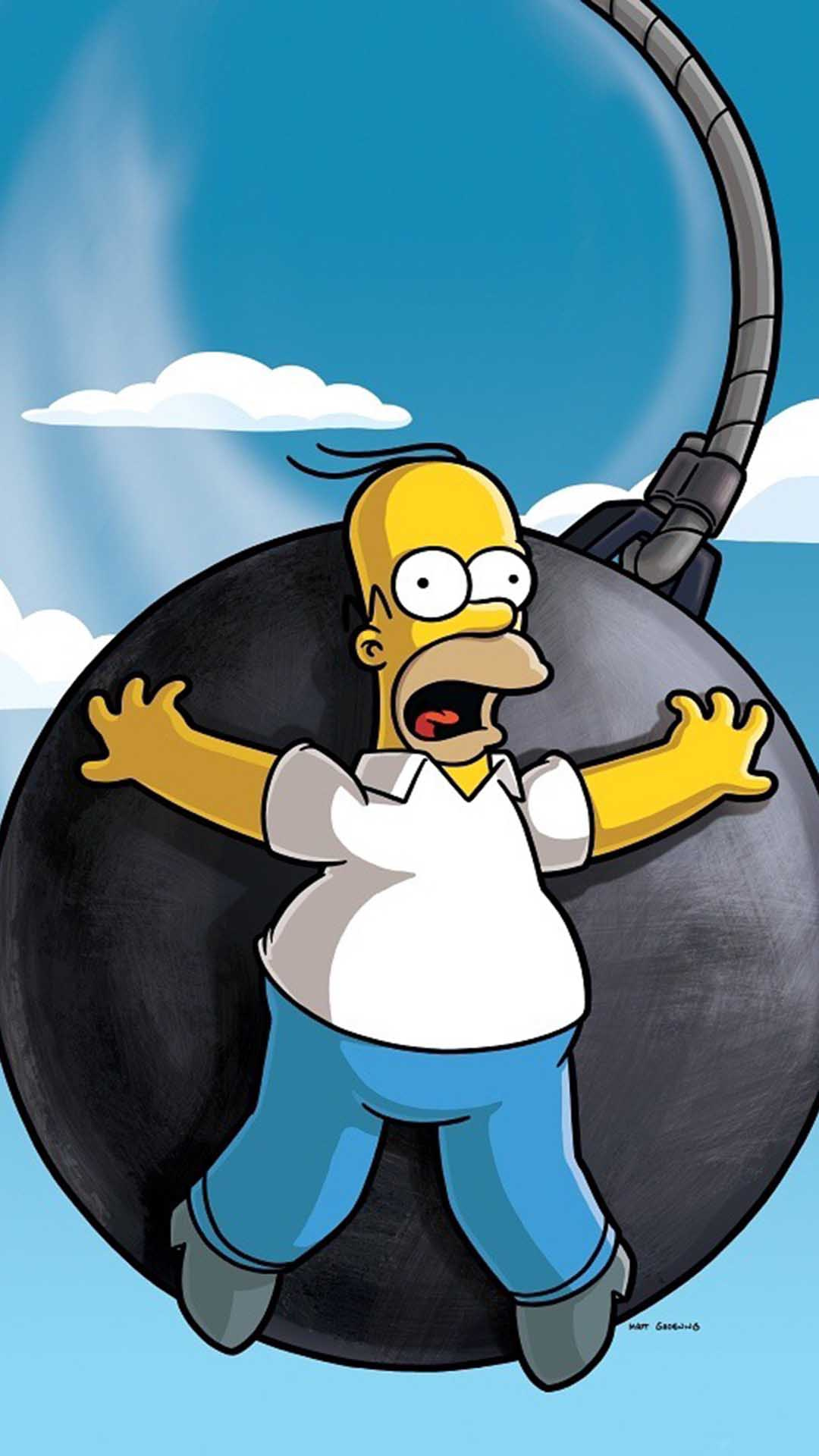 Homer Simpson Wallpaper For Iphone X 8 7 6 Free