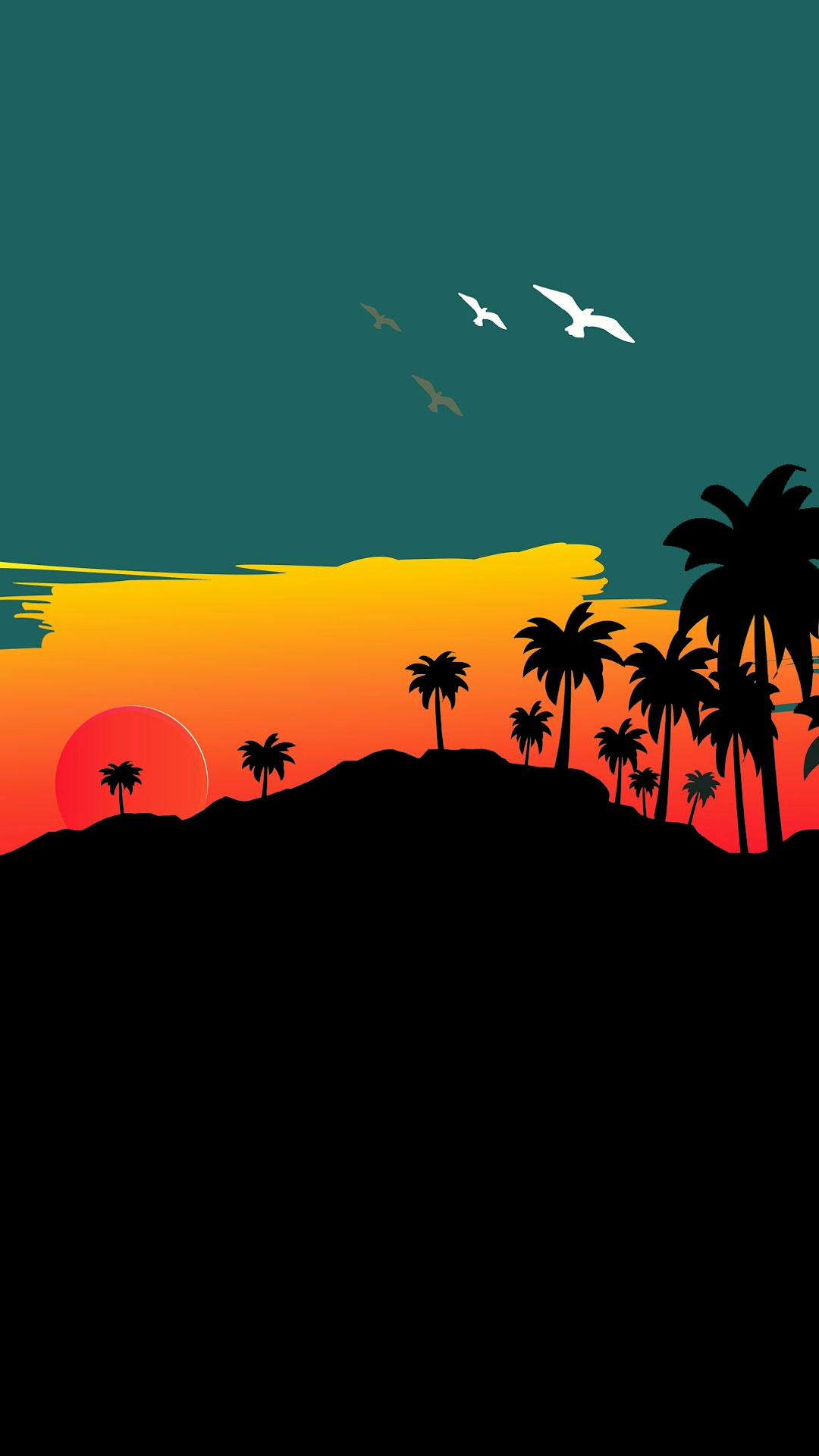 iPhone wallpaper illustration beach Illustration