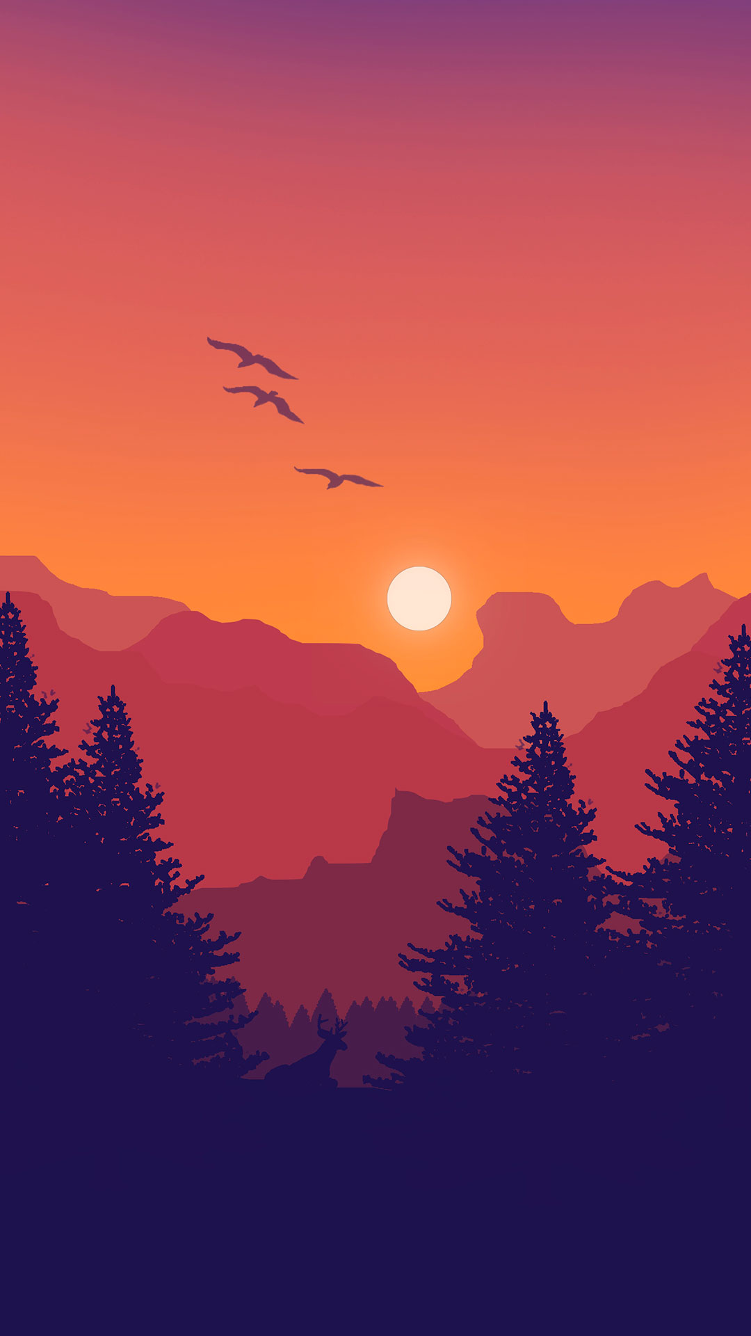 iPhone wallpaper illustration mountains Illustration