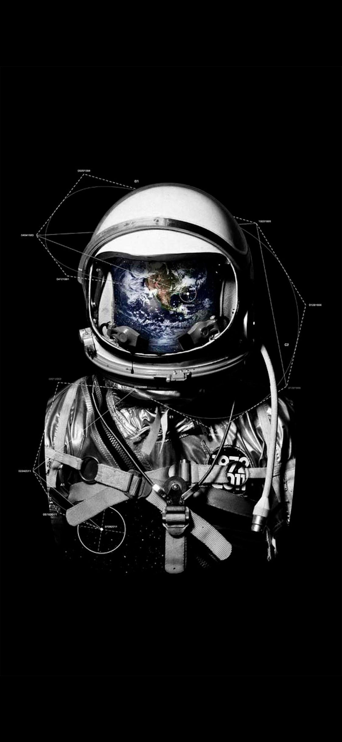 iPhone wallpaper astronaut2 Fonds d'écran iPhone du 22/05/2018