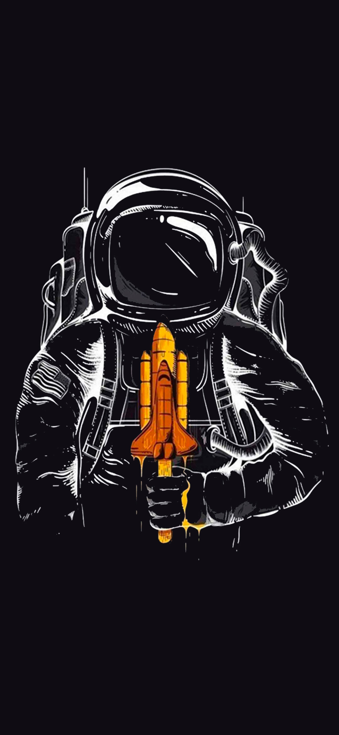 iPhone wallpaper astronaut3 Fonds d'écran iPhone du 22/05/2018